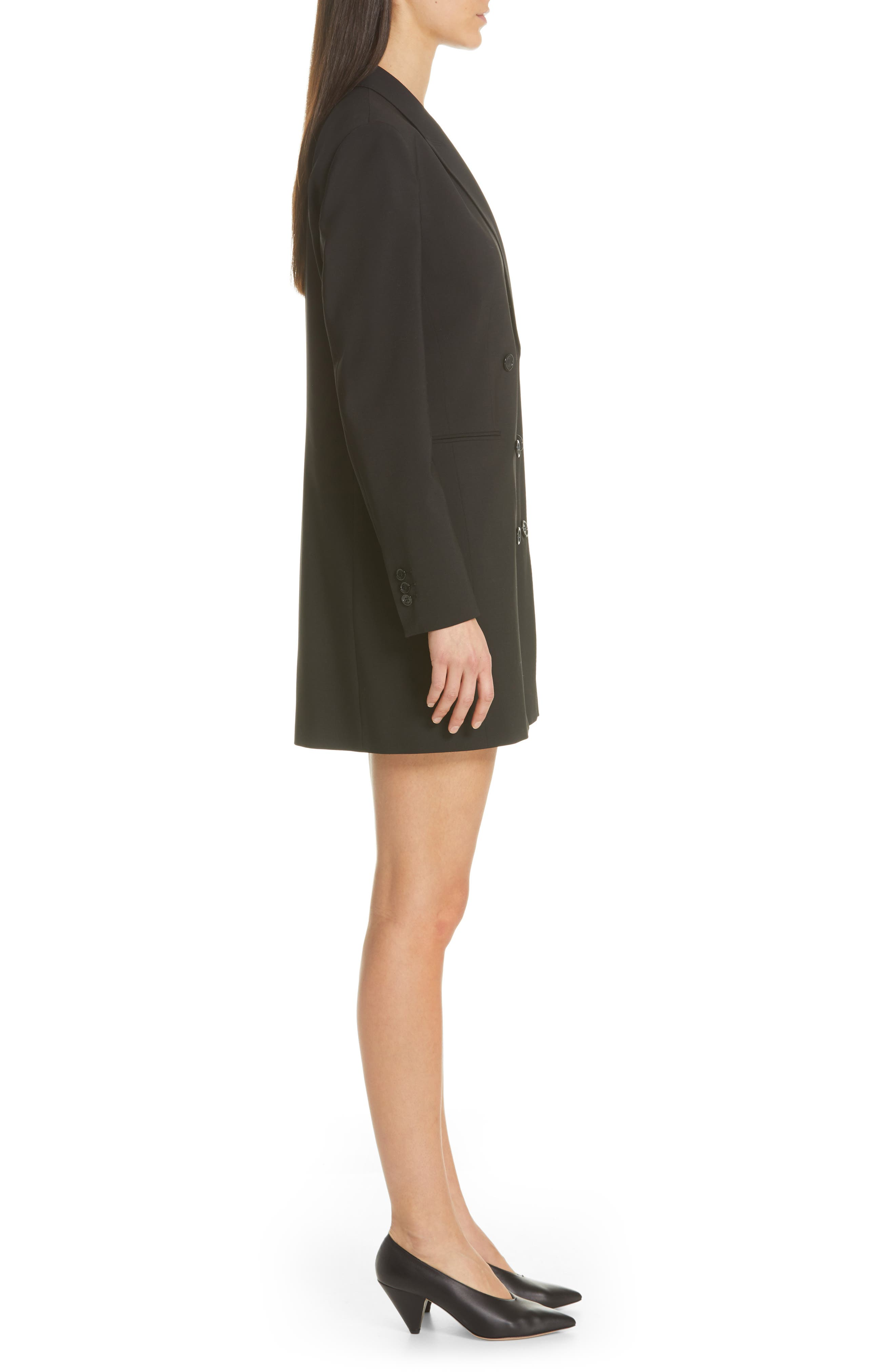 Akasa Blazer Dress,                             Alternate thumbnail 3, color,                             BLACK
