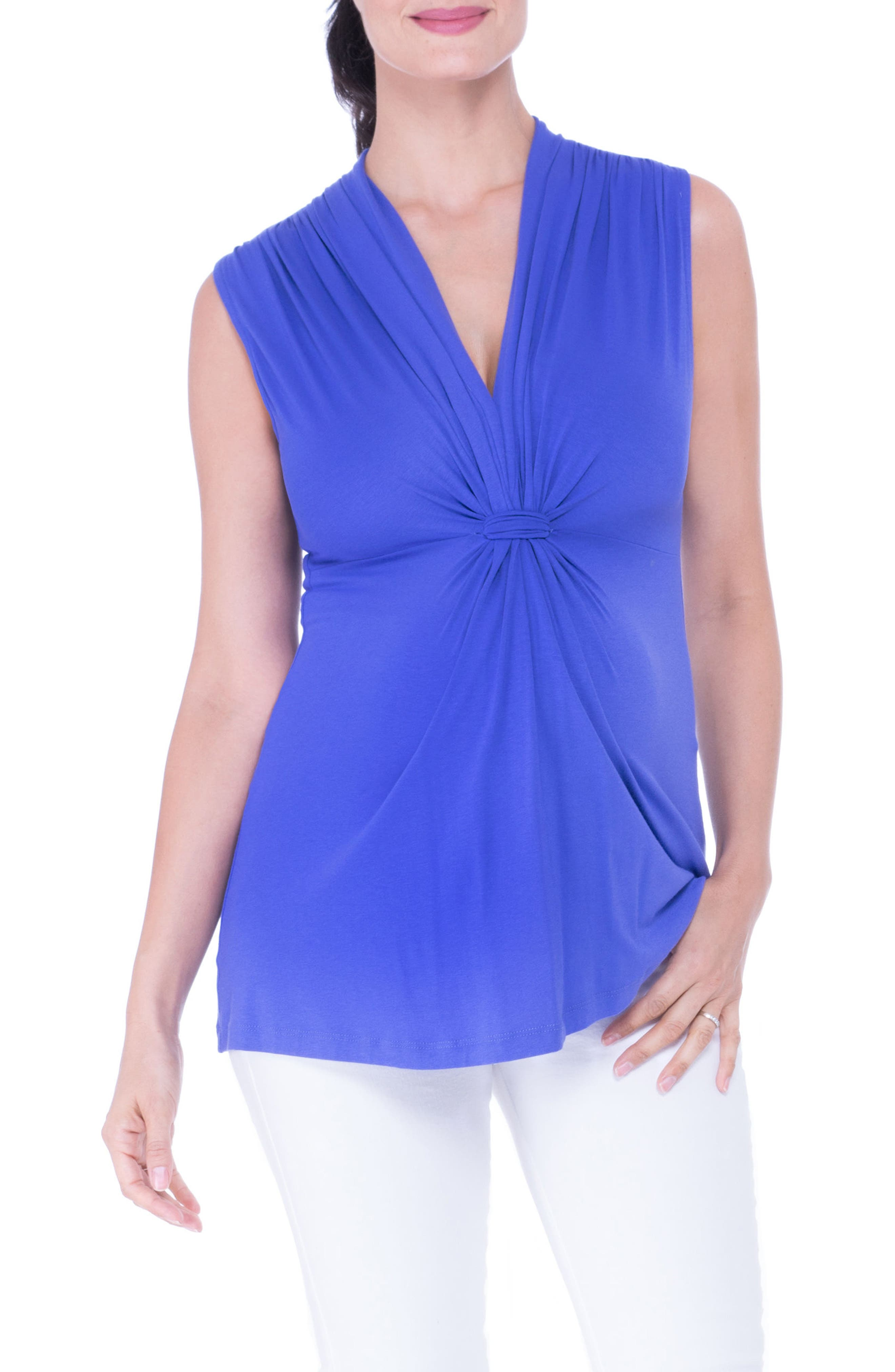 Knot Maternity Top,                         Main,                         color, PERIWINKLE