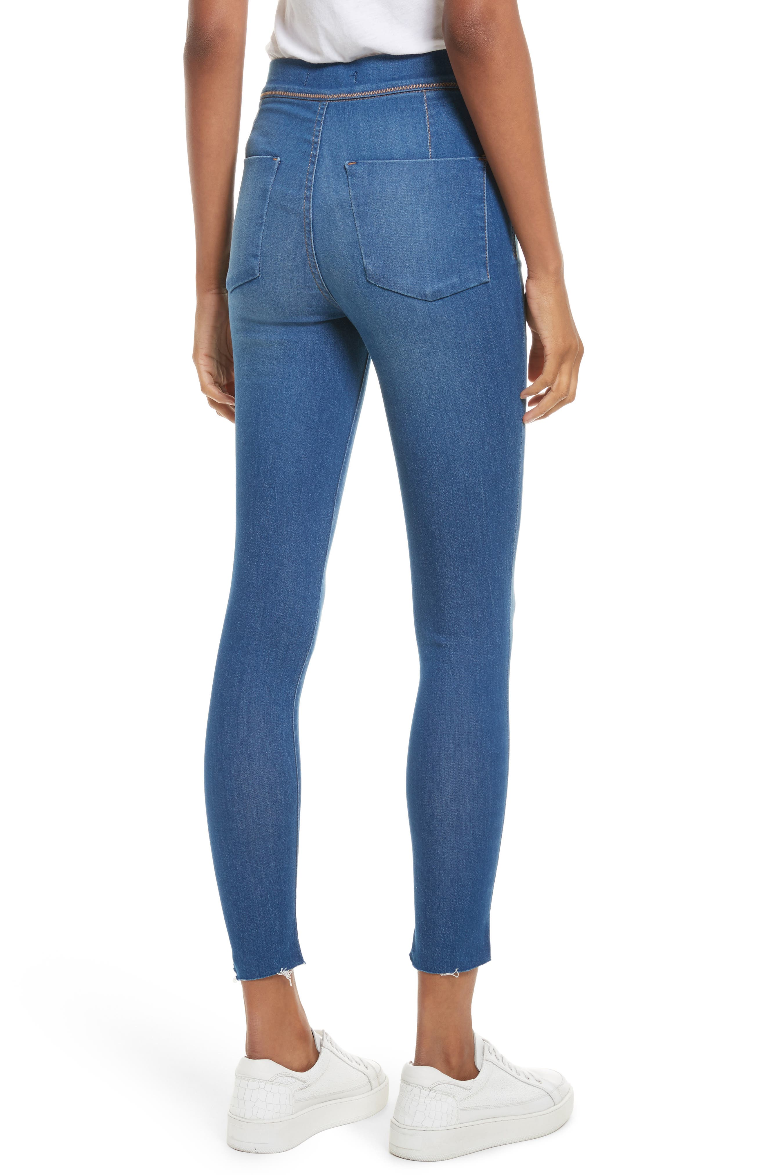 We the Free by Free People Easy Goes It Denim Leggings,                             Alternate thumbnail 2, color,                             400