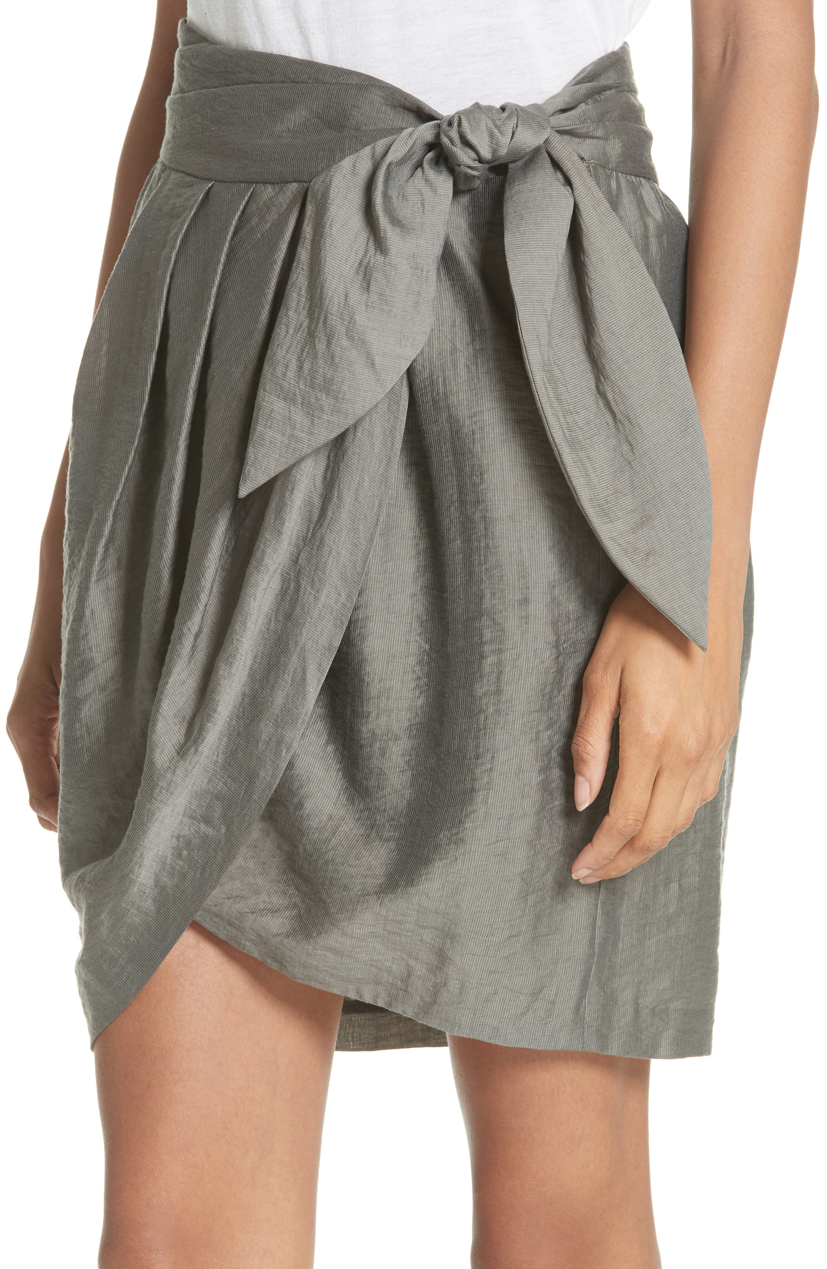 Erlecia Wrap Skirt,                             Alternate thumbnail 4, color,                             330