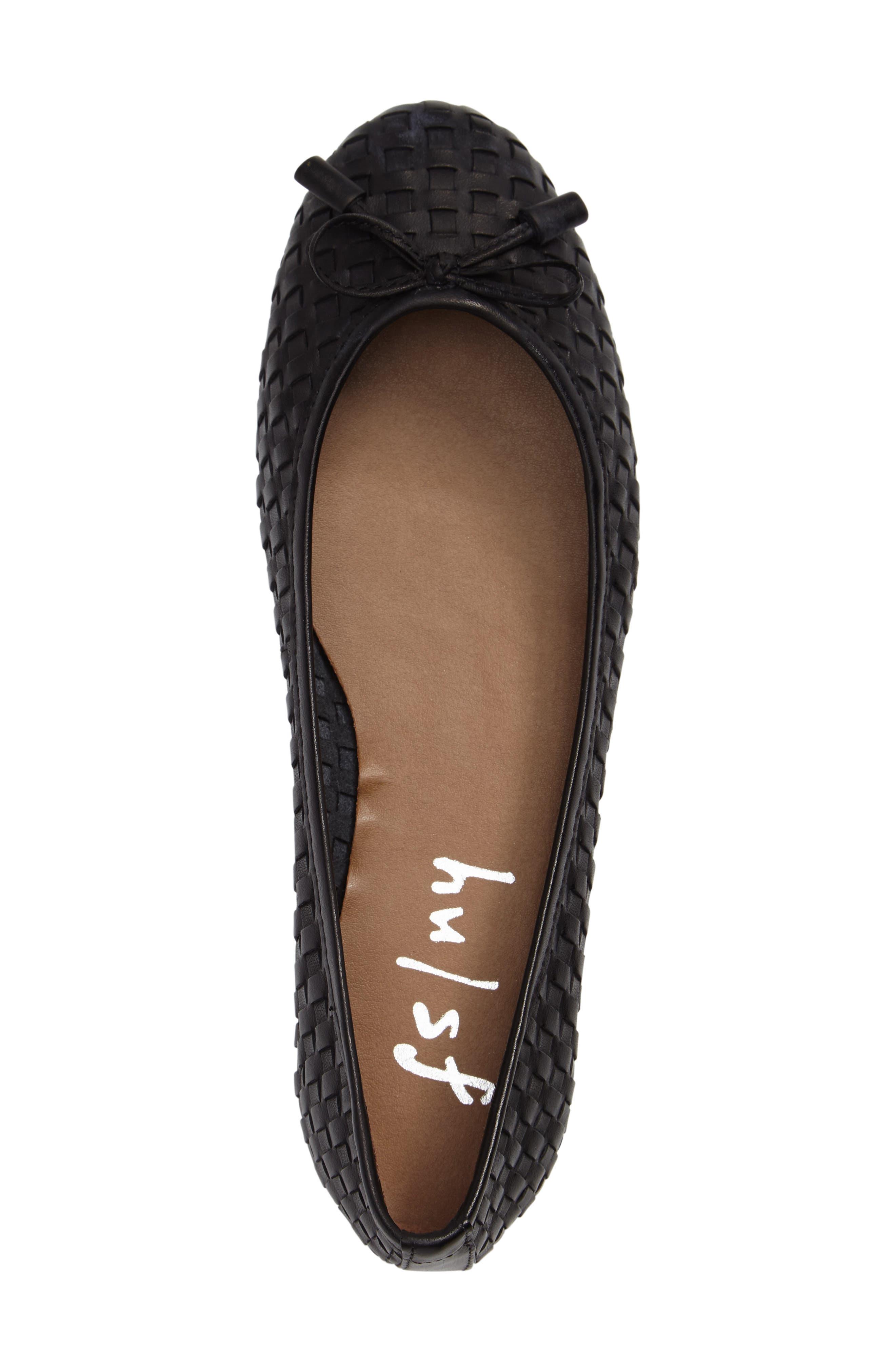 FRENCH SOLE,                             Vogue Ballet Flat,                             Alternate thumbnail 3, color,                             001