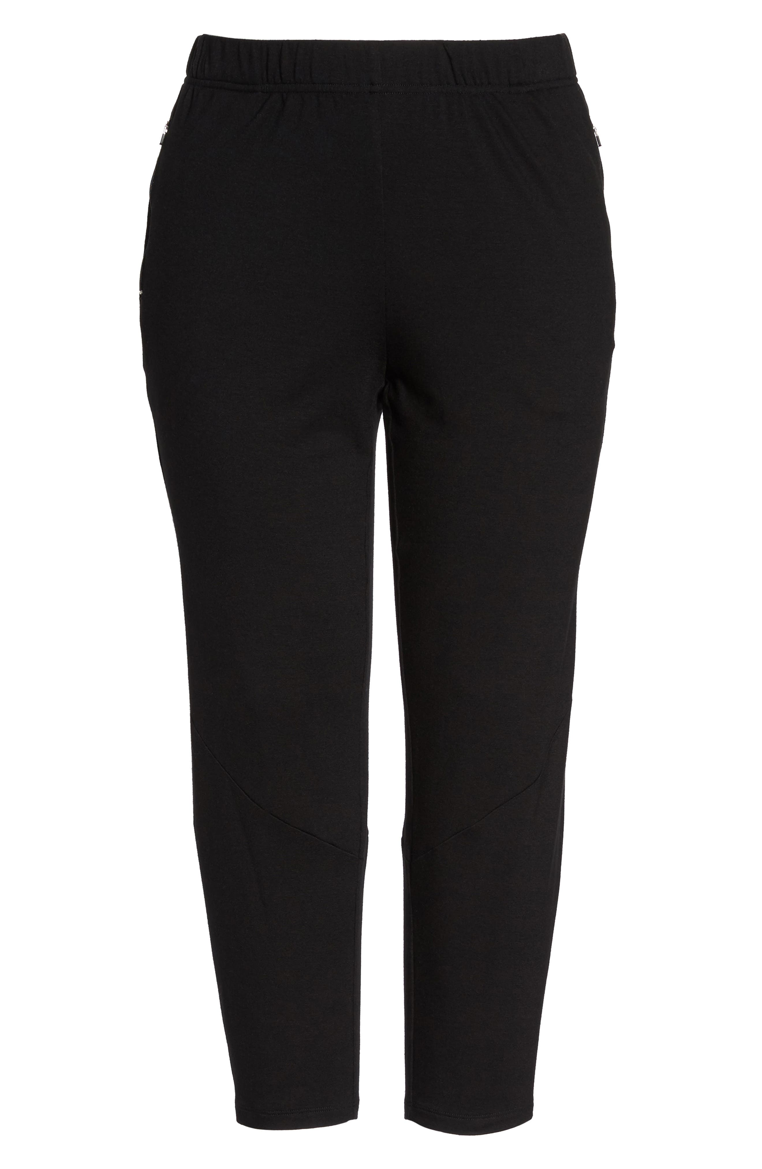 Slouchy Stretch Pants,                             Alternate thumbnail 6, color,                             001