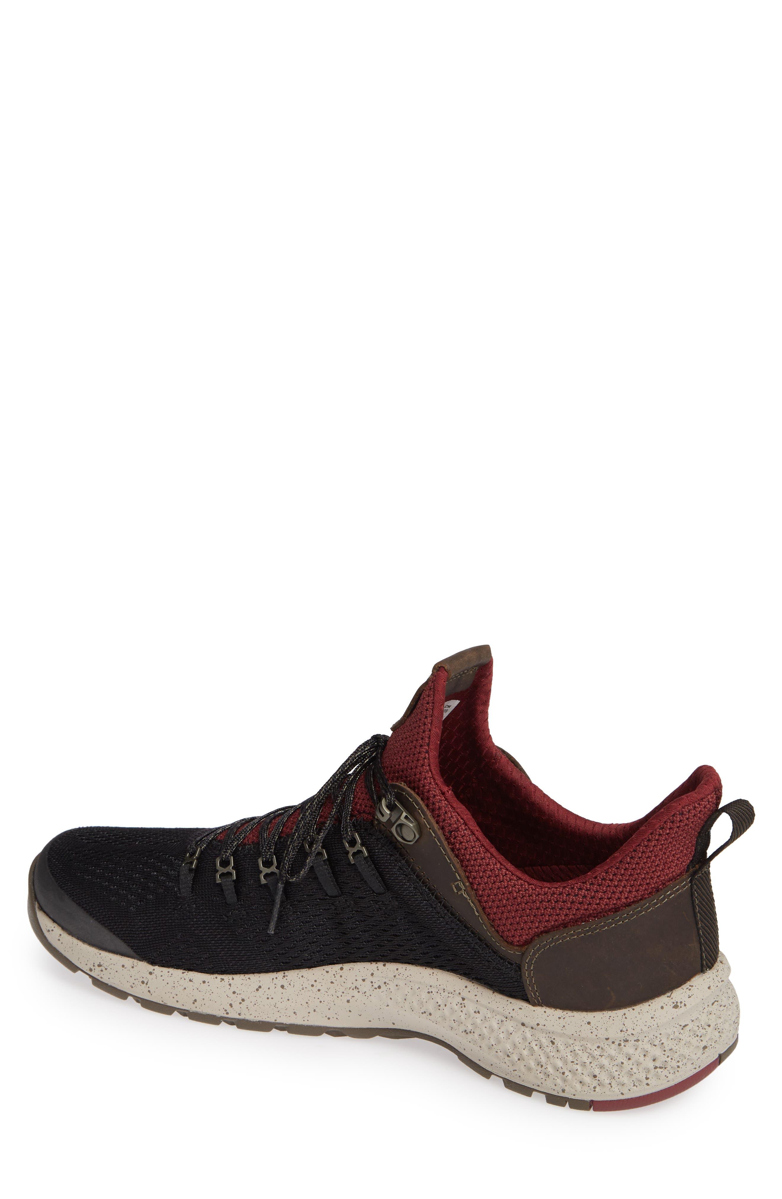 FlyRoam Trail Sneaker,                             Alternate thumbnail 2, color,                             BLACK/ BURGUNDY