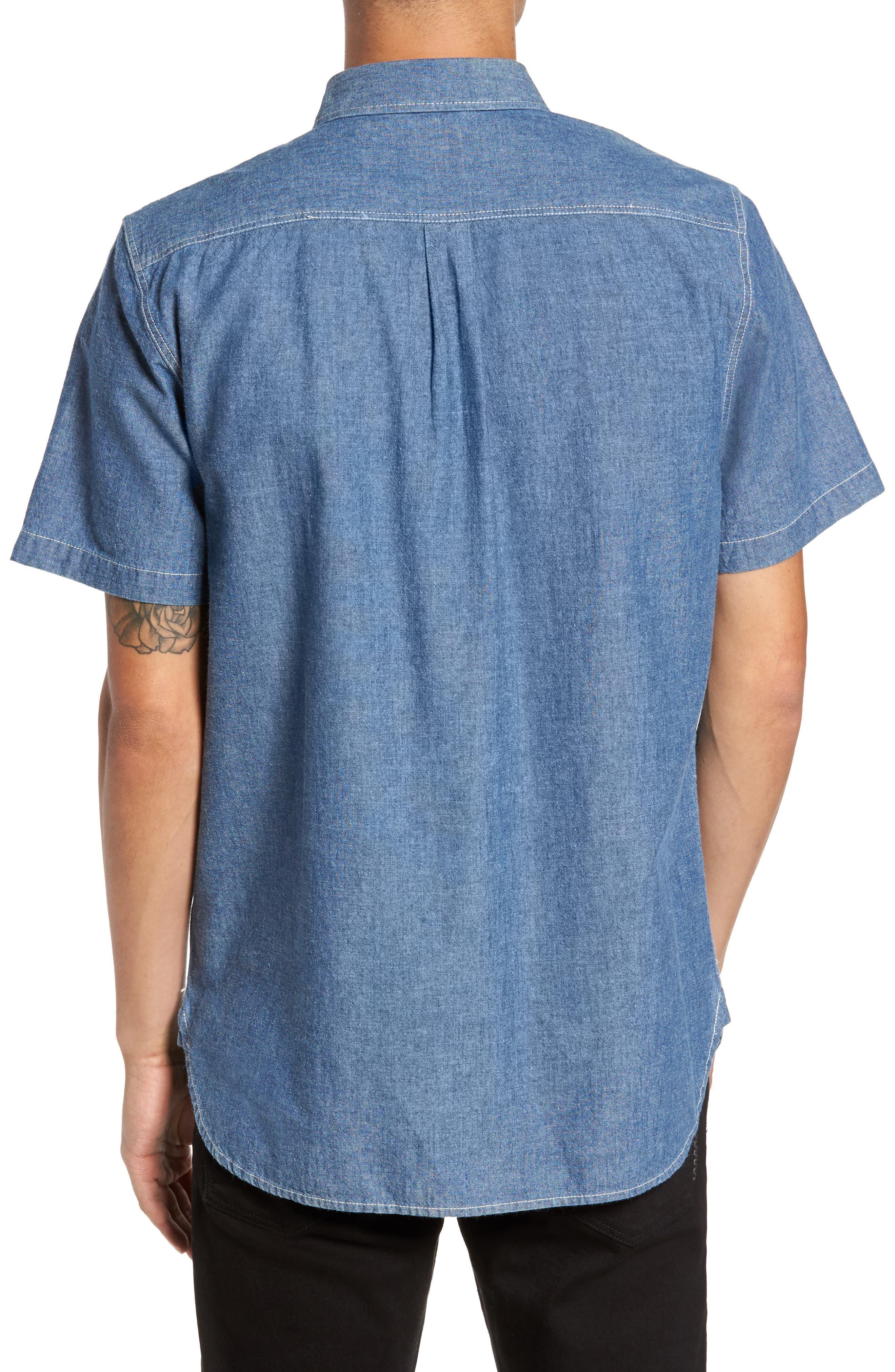 Carlow Chambray Woven Shirt,                             Alternate thumbnail 2, color,