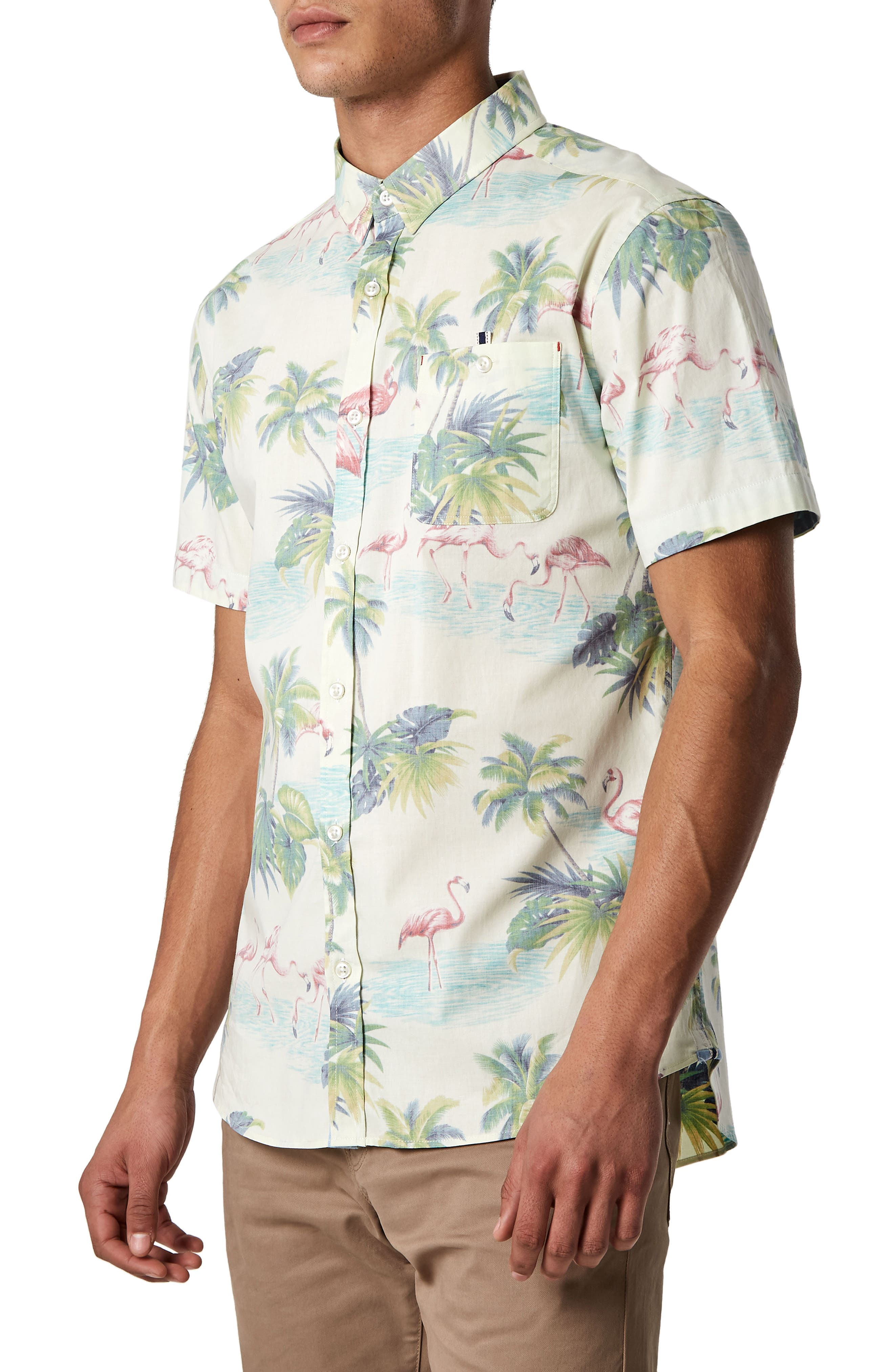 Jungle Radio Stretch Sport Shirt,                             Alternate thumbnail 3, color,                             900