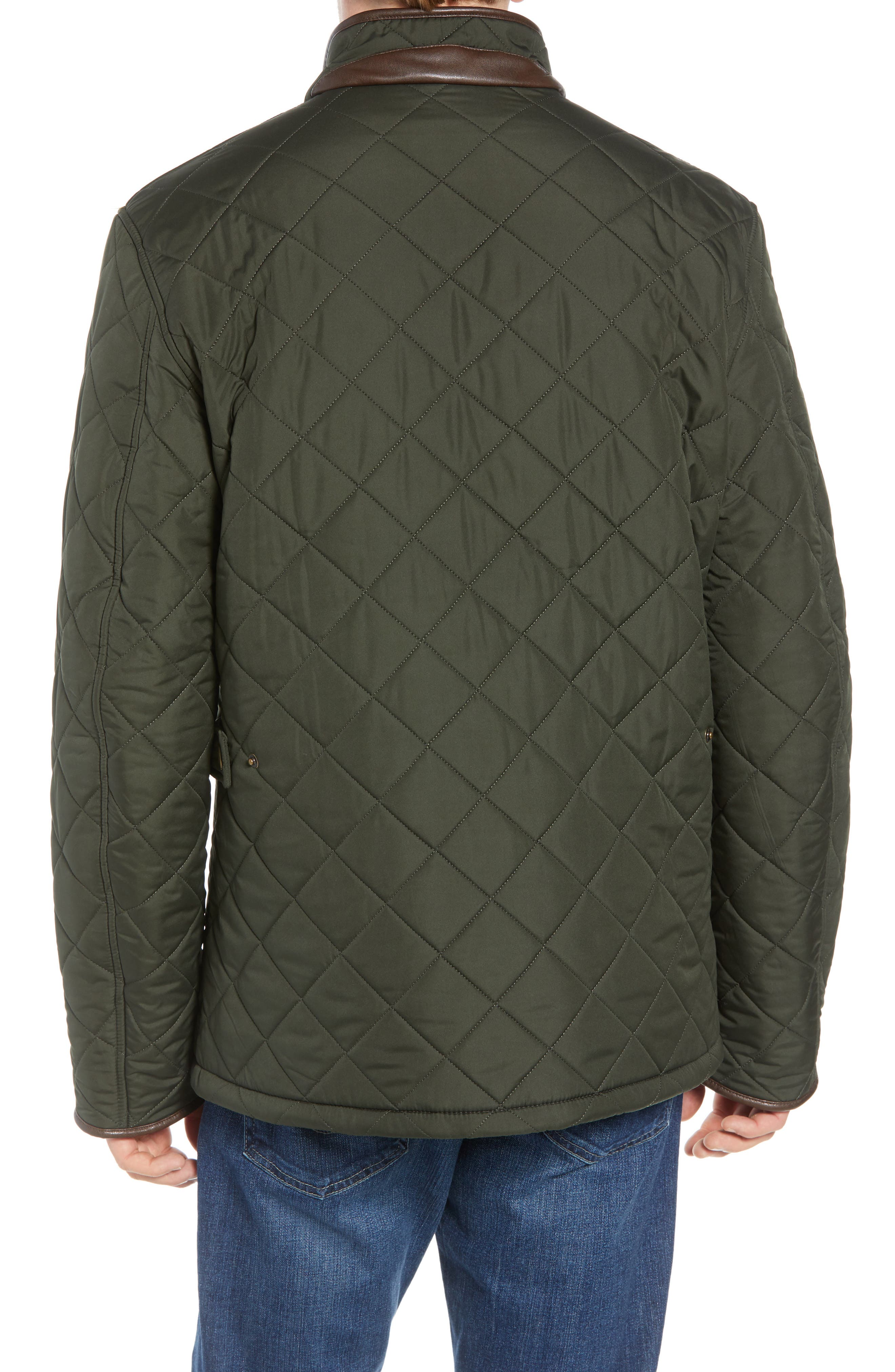 'Powell' Regular Fit Quilted Jacket,                             Alternate thumbnail 2, color,                             SAGE/ OLIVE