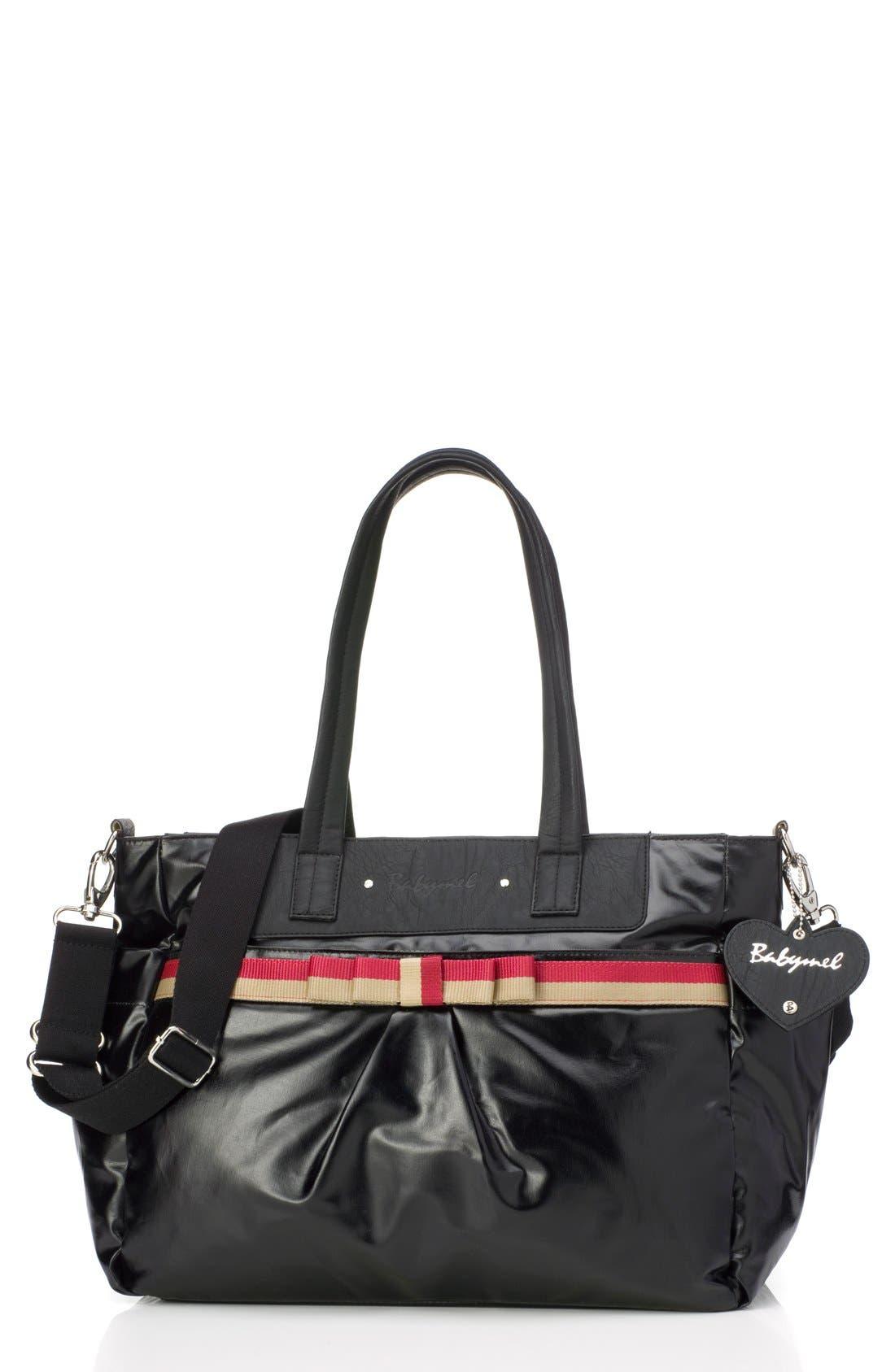 'Cara' Diaper Bag,                         Main,                         color, 002