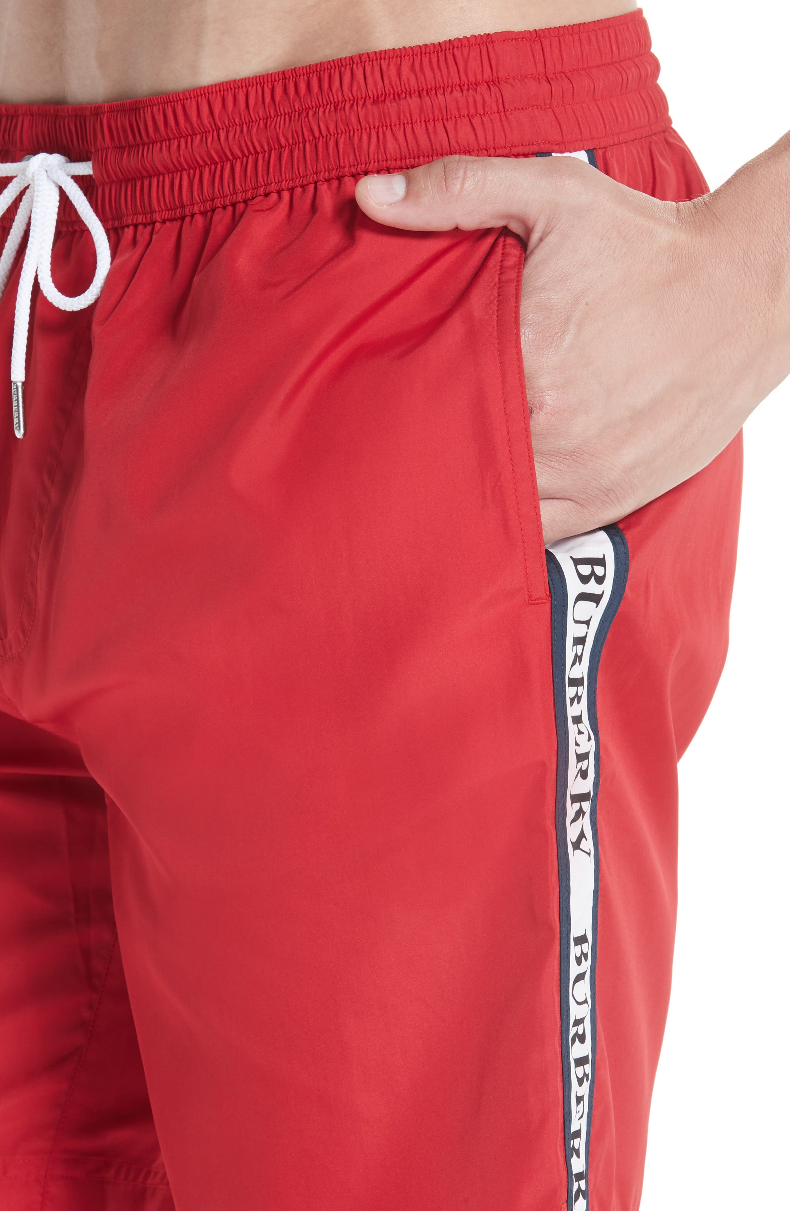 Guildes Swim Trunks,                             Alternate thumbnail 4, color,                             PARADE RED