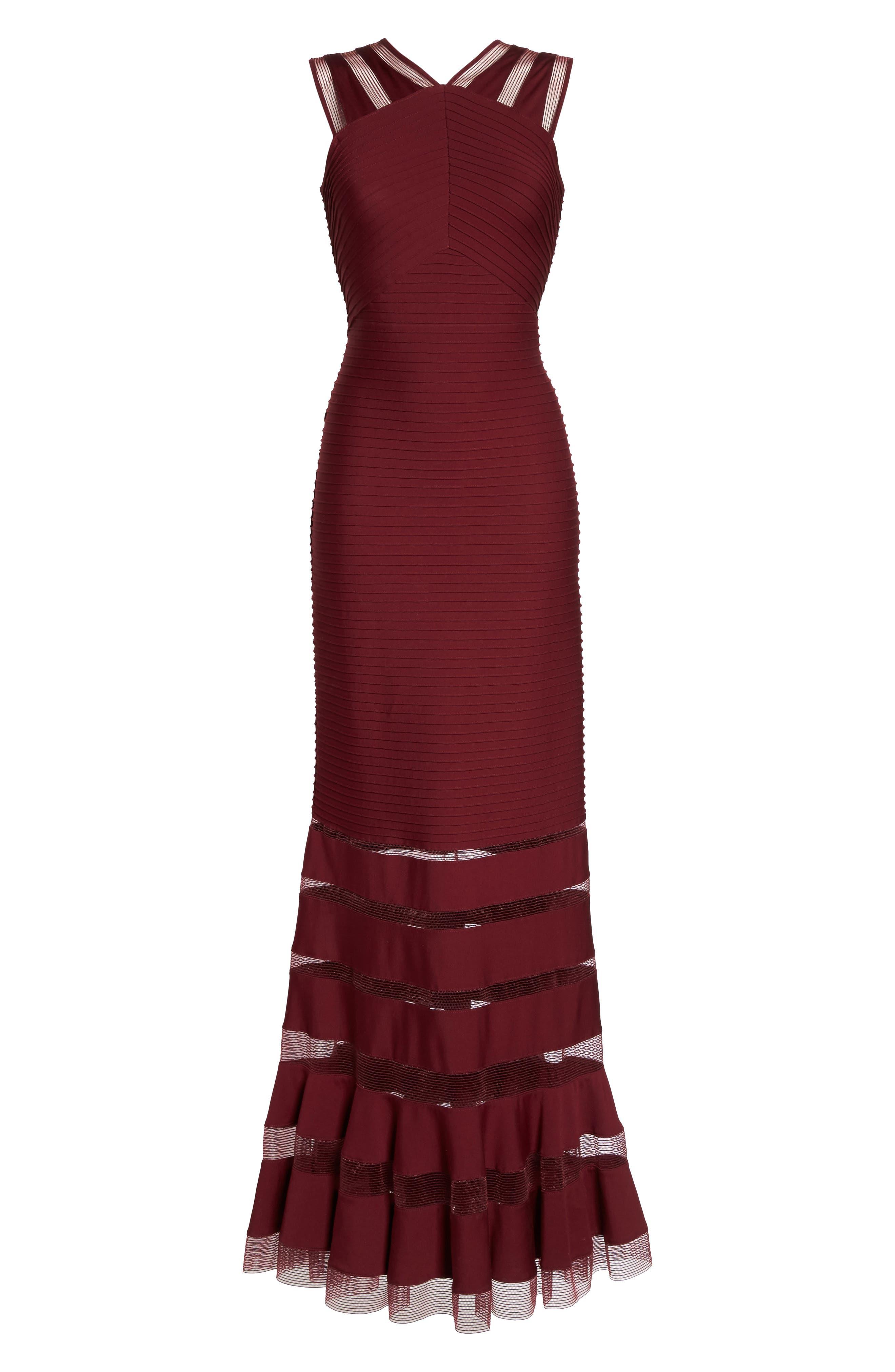 Mesh Inset Pintuck Dress,                             Alternate thumbnail 6, color,                             600