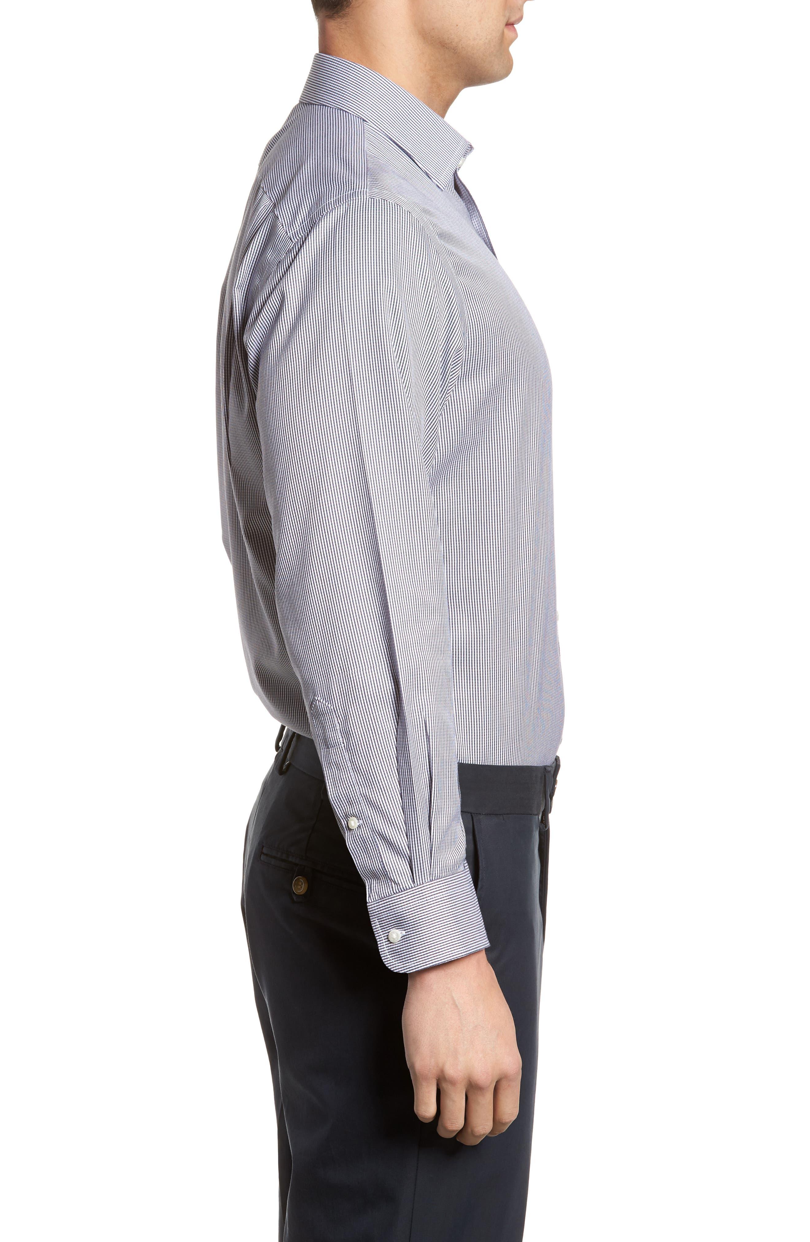 Smartcare<sup>™</sup> Traditional Fit Stripe Dress Shirt,                             Alternate thumbnail 10, color,