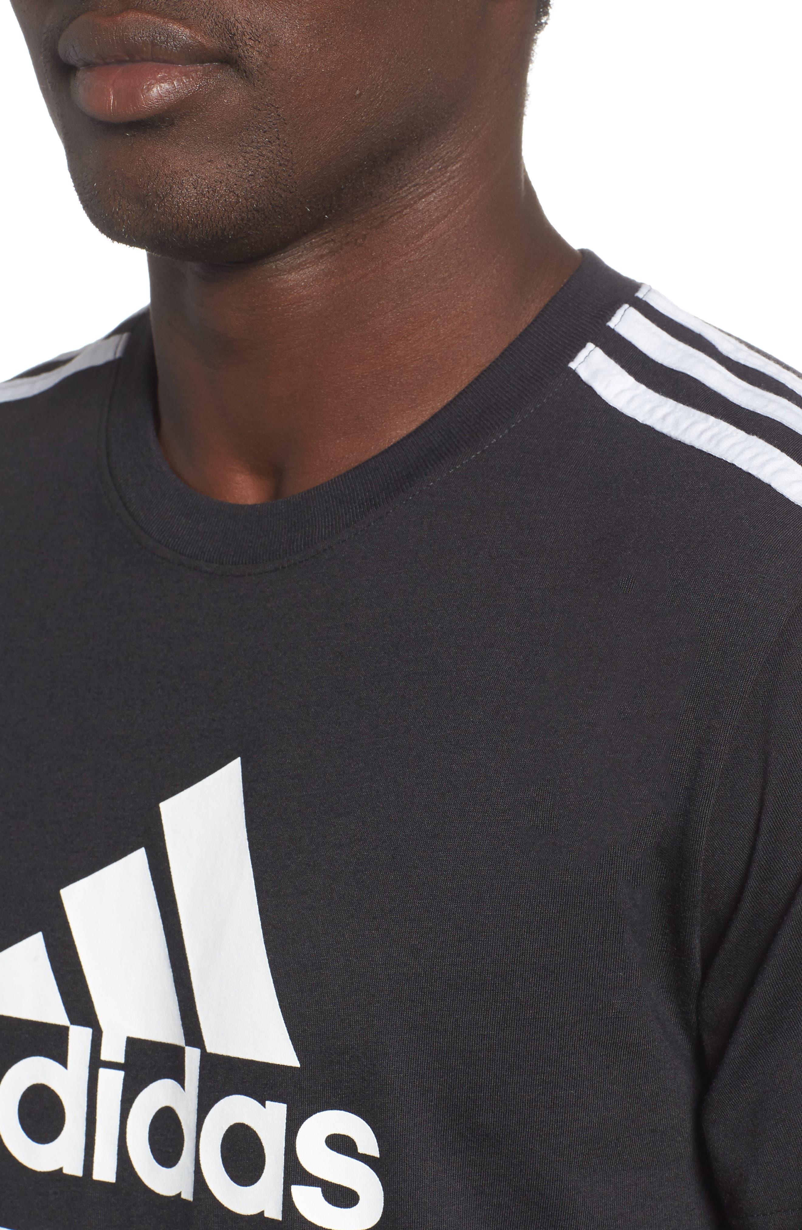 Classic International T-Shirt,                             Alternate thumbnail 4, color,                             BLACK