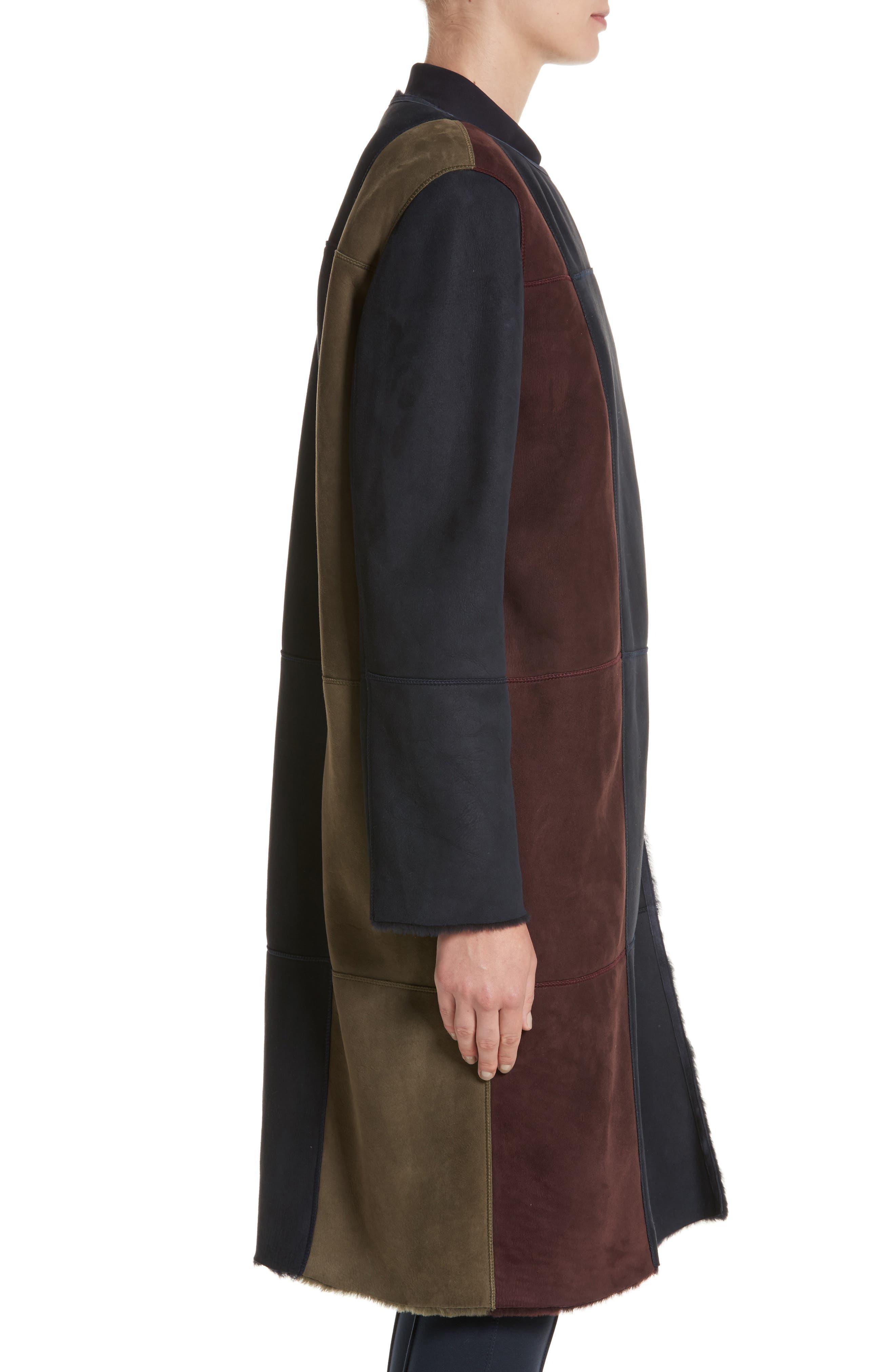 Robyn Reversible Genuine Shearling Coat,                             Alternate thumbnail 4, color,                             438