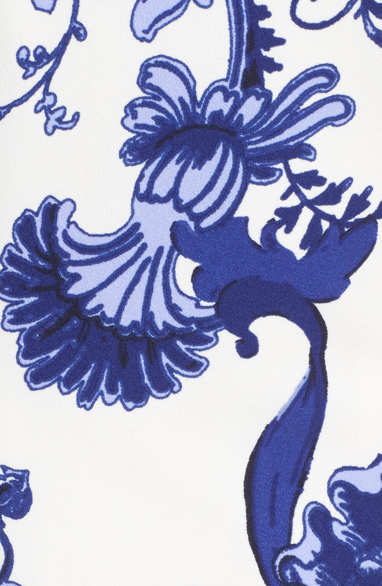 Print Long Sleeve Sheath Dress,                             Alternate thumbnail 5, color,                             421