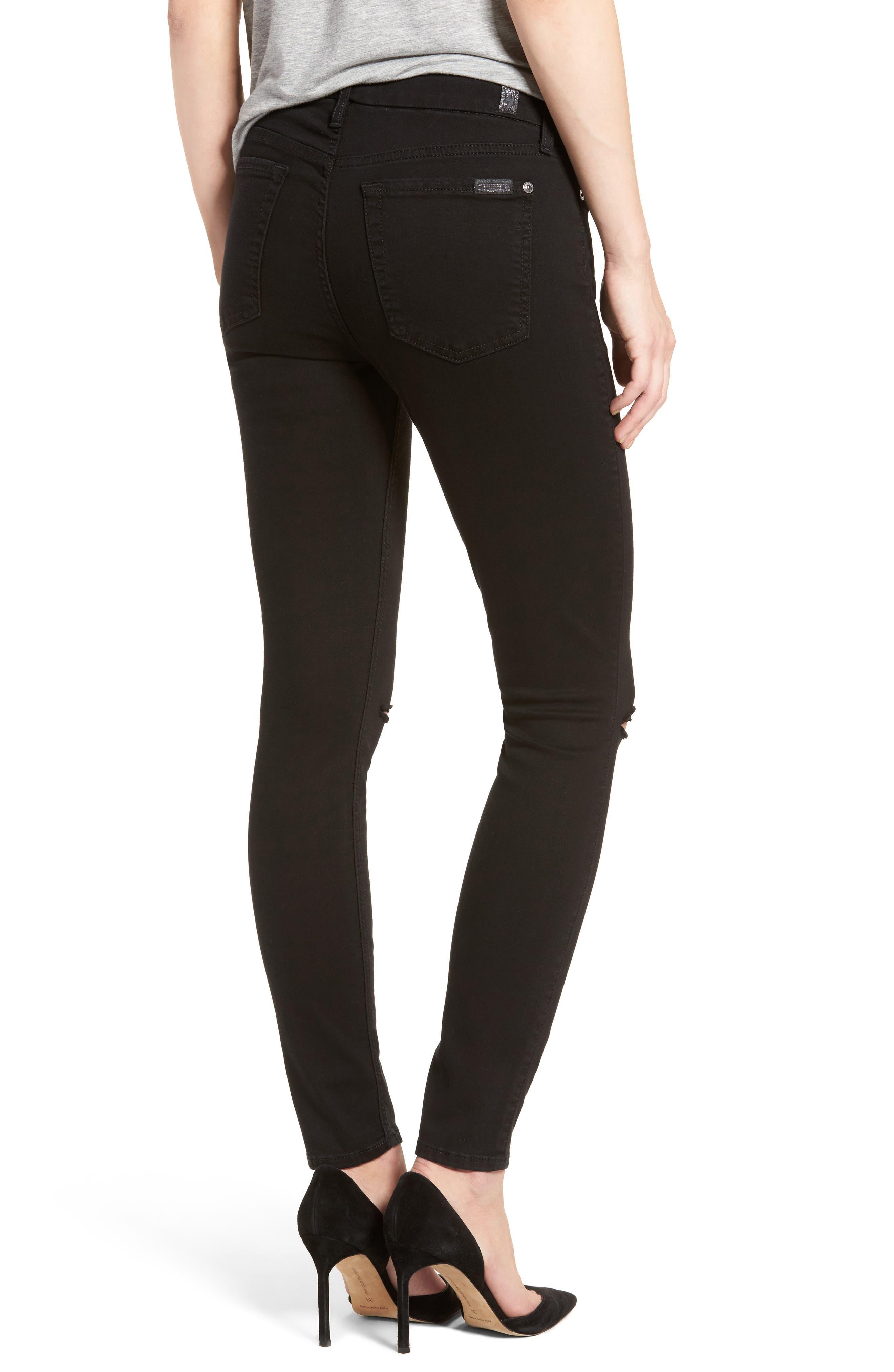 b(air) Ankle Skinny Jeans,                             Alternate thumbnail 2, color,                             BAIR BLACK 2