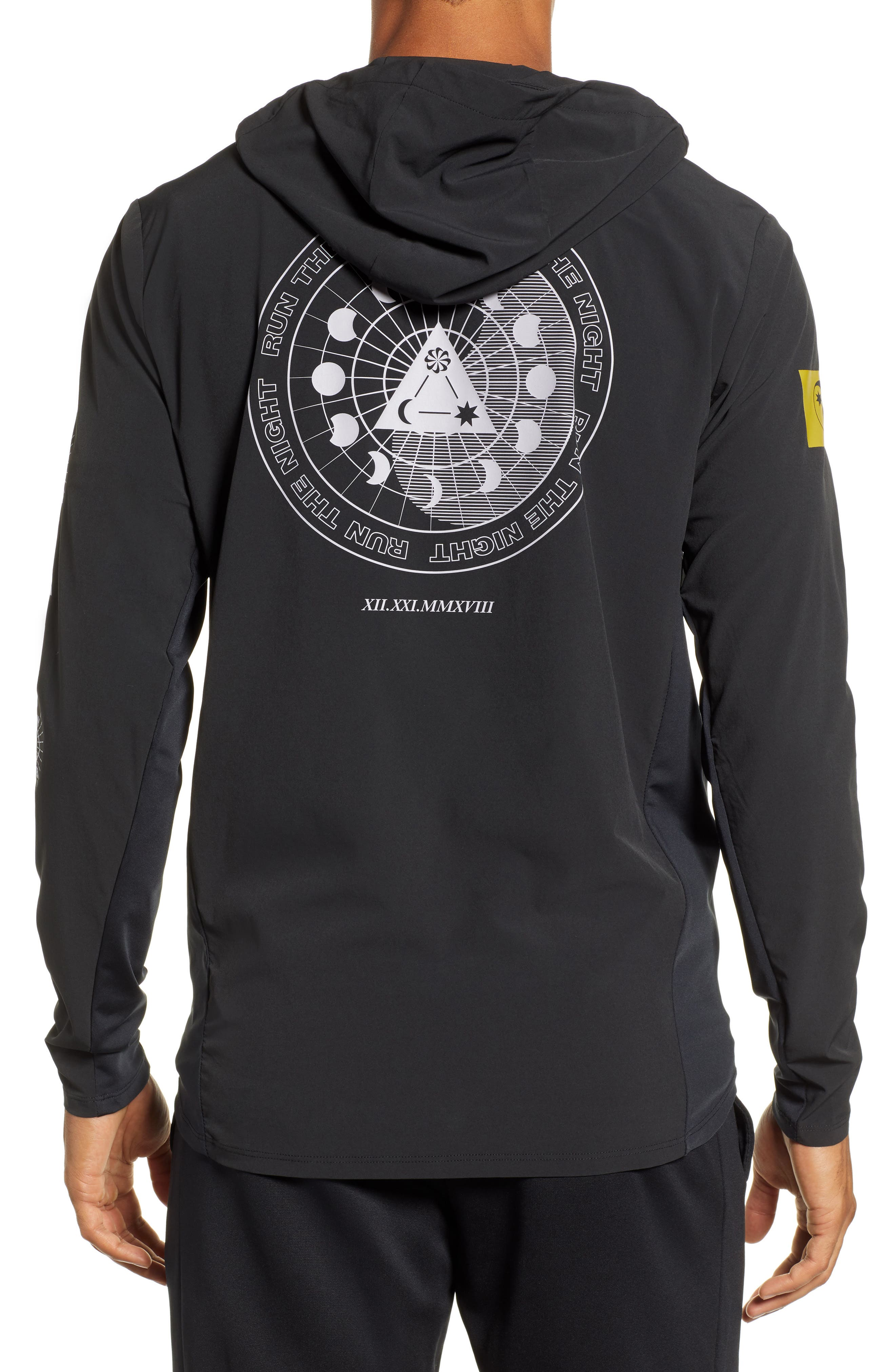Winter Solstice Reflective Running Jacket,                             Alternate thumbnail 2, color,                             BLACK/ PROVENCE PURPLE