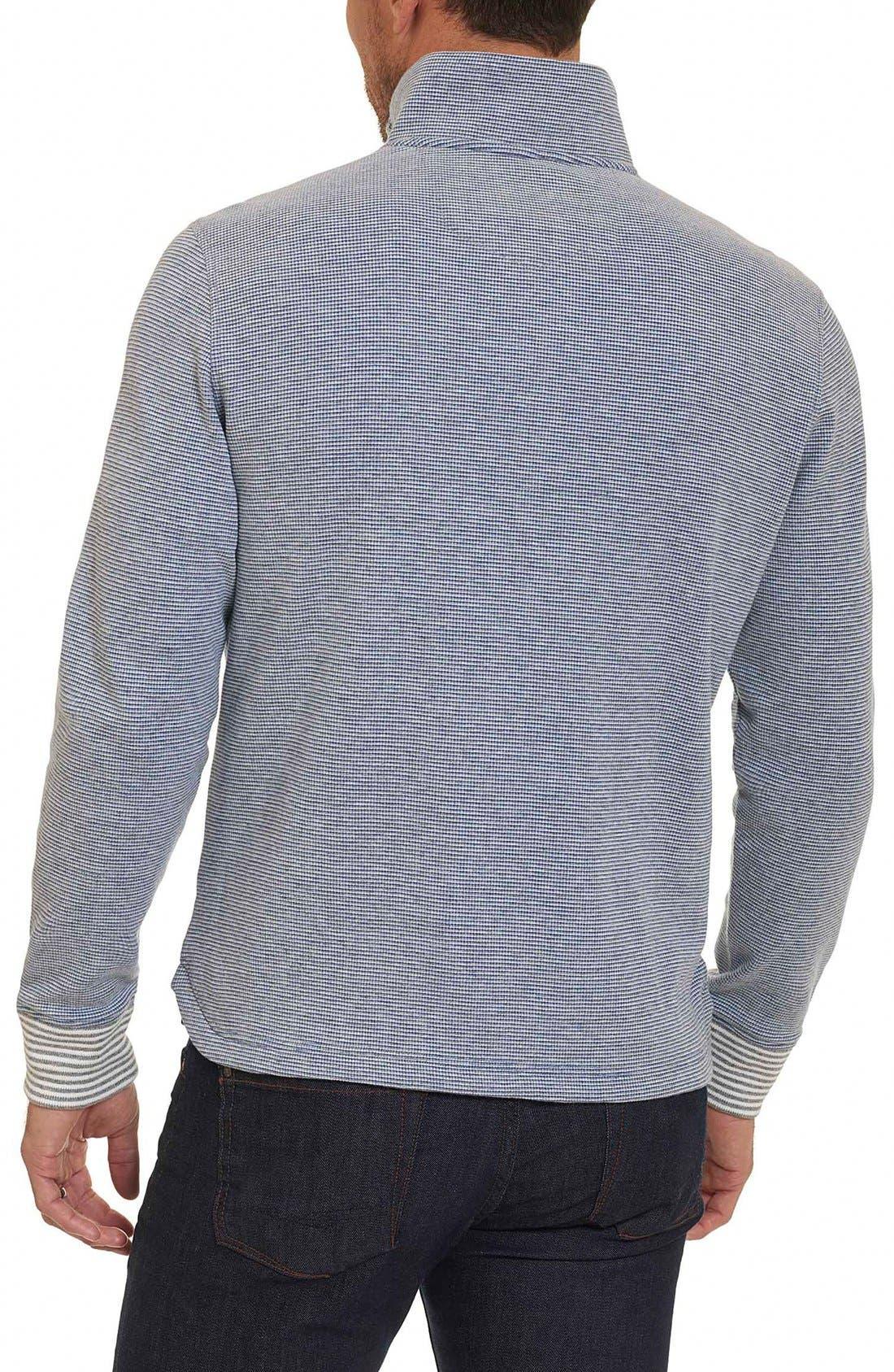 Poole Regular Fit Quarter Zip Pullover,                             Alternate thumbnail 3, color,                             020