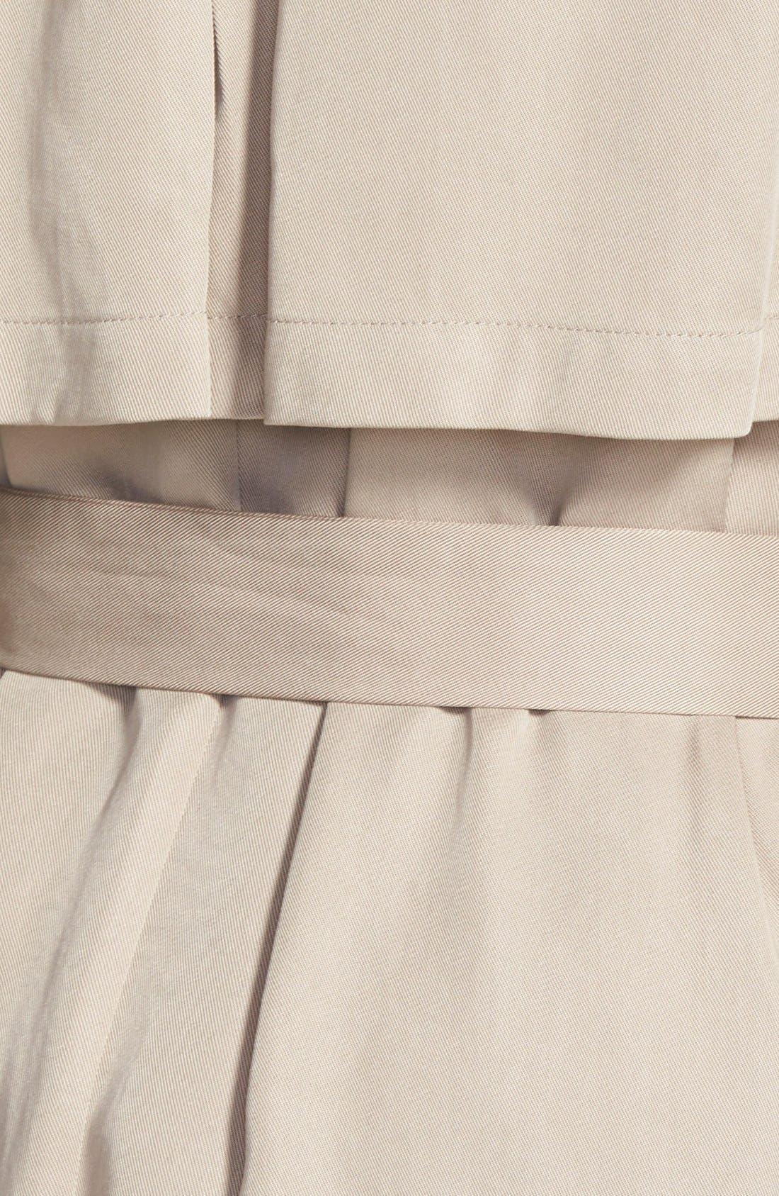 Draped Wrap Long Trench Coat,                             Alternate thumbnail 2, color,                             250