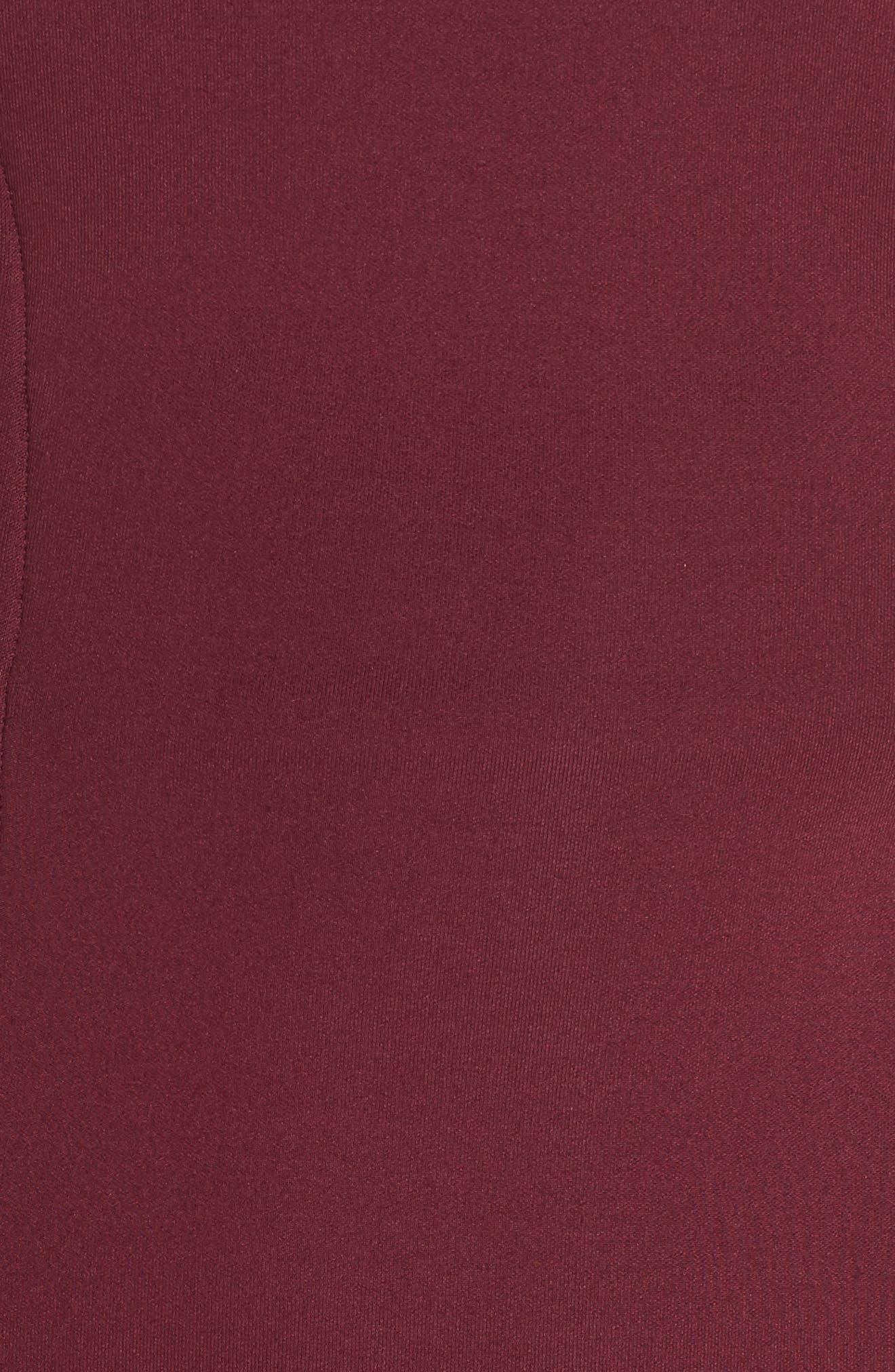 CHELSEA28,                             Scuba Sheath Dress,                             Alternate thumbnail 6, color,                             BURGUNDY