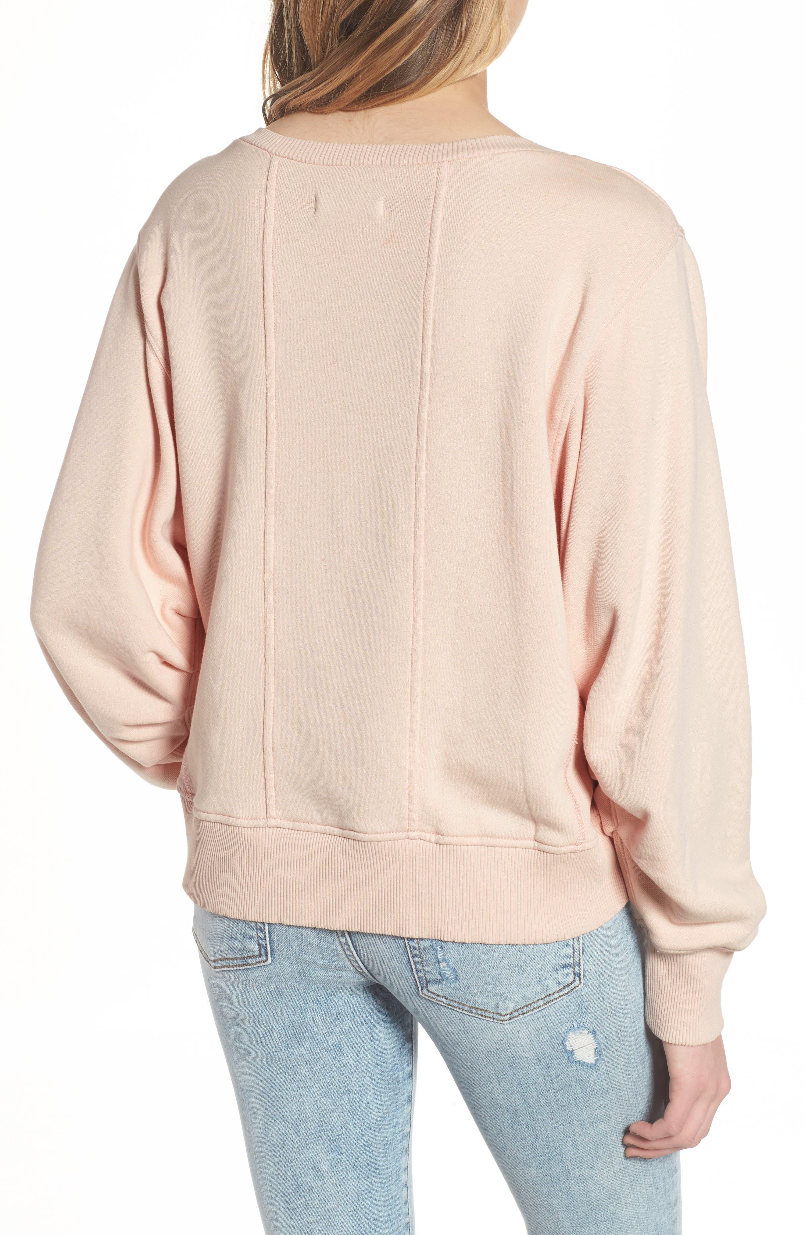 Seamed Sweatshirt,                             Alternate thumbnail 2, color,