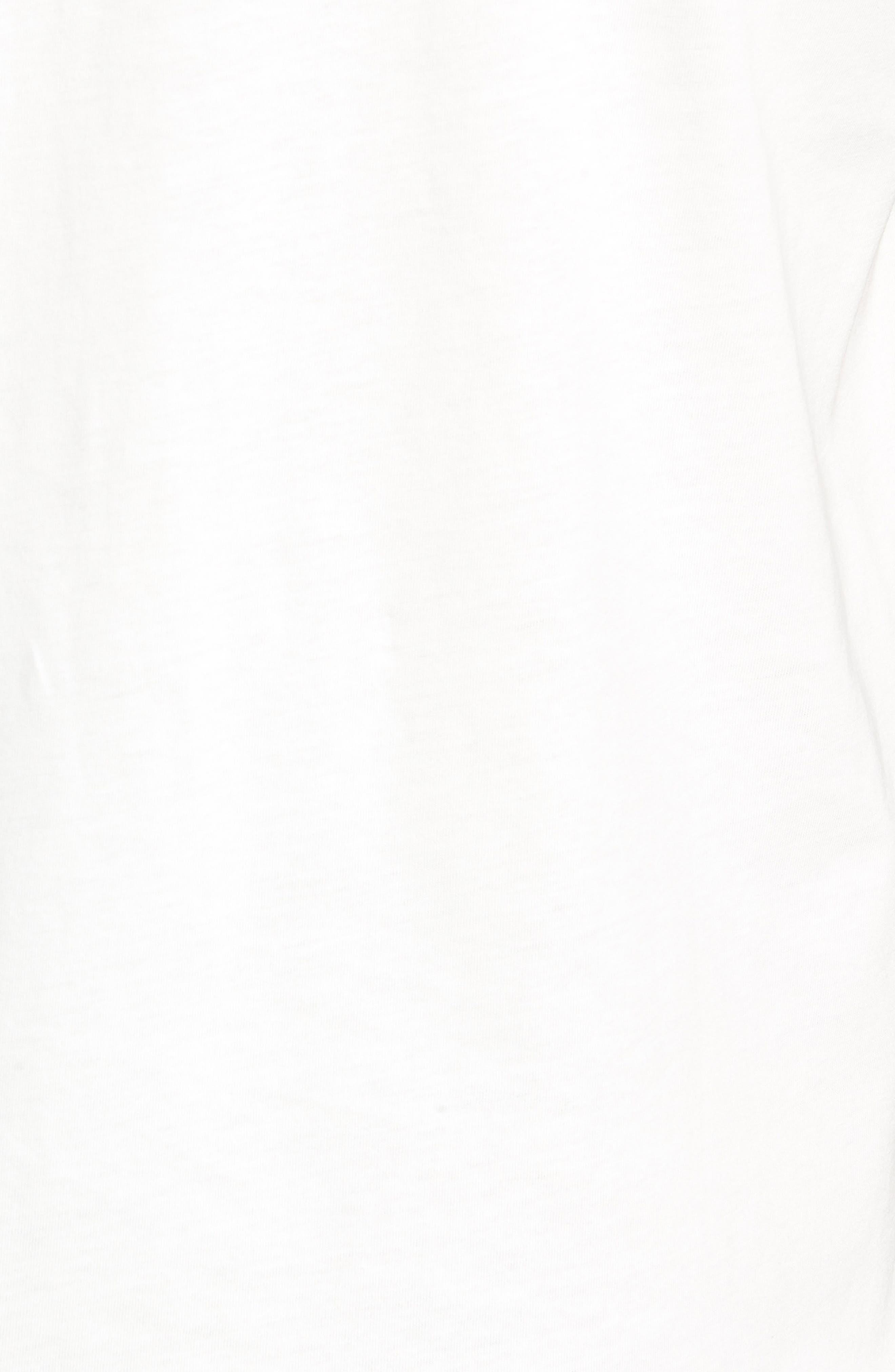 Contrast Trim T-Shirt,                             Alternate thumbnail 5, color,                             SNOW WHITE