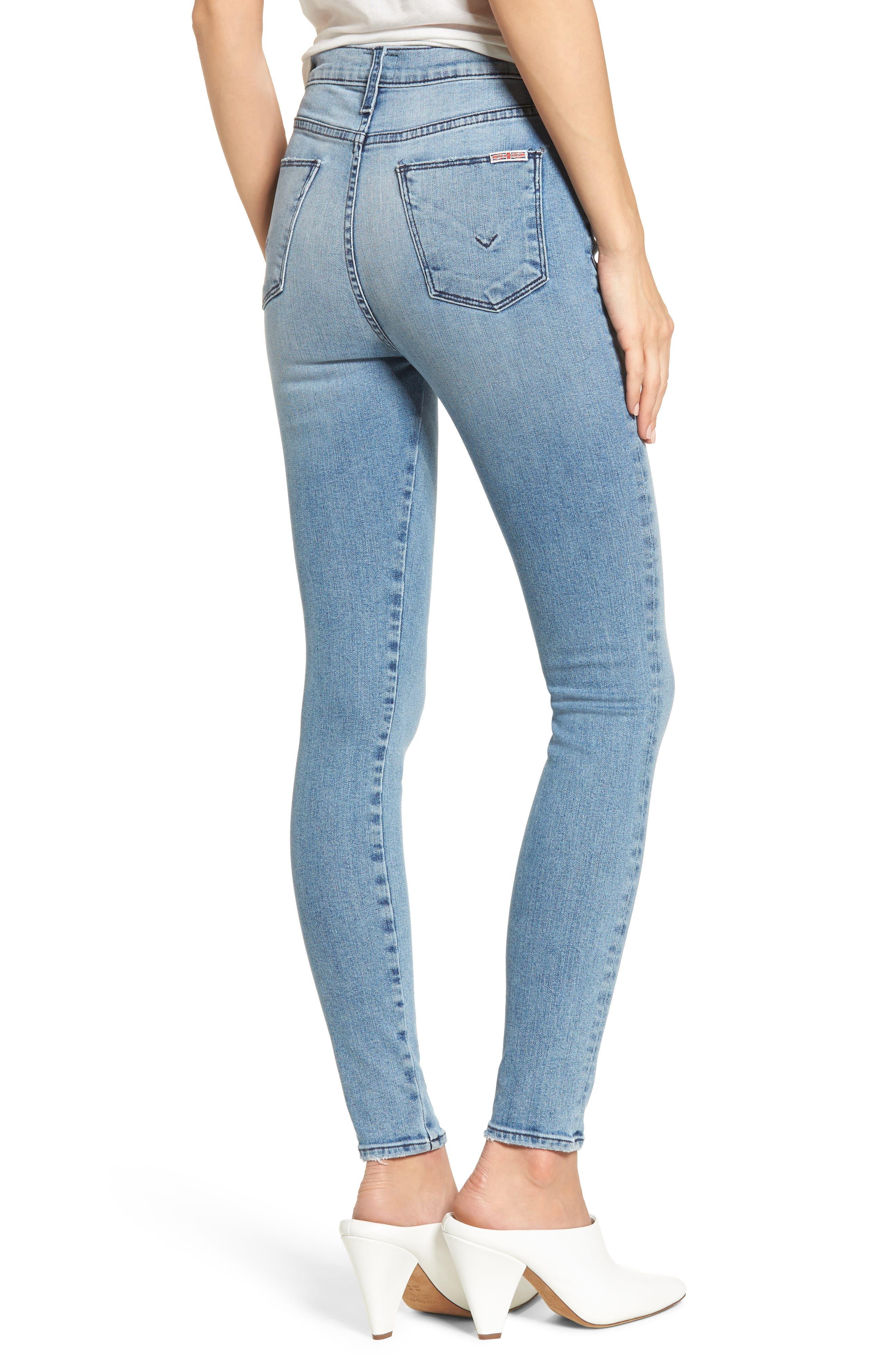 Bullocks Lace-Up High Waist Super Skinny Jeans,                             Alternate thumbnail 4, color,