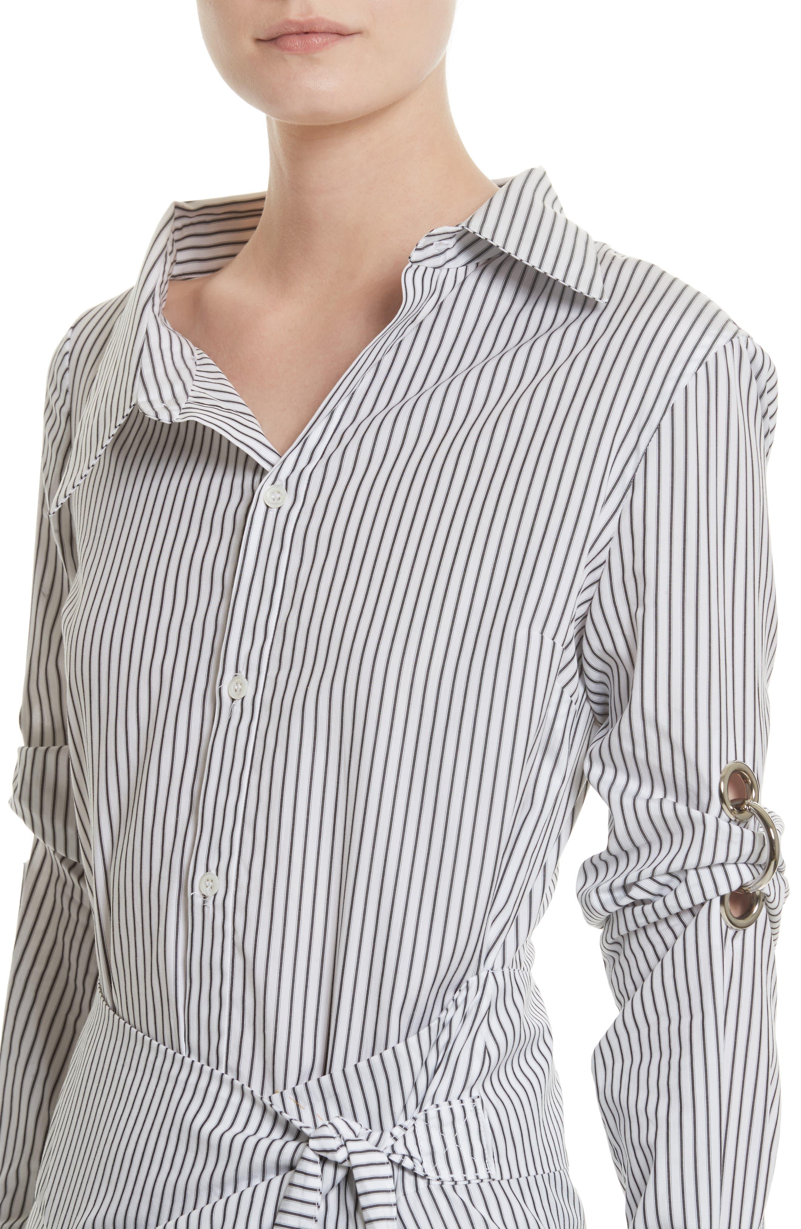 Wrap Shirtdress,                             Alternate thumbnail 4, color,                             162