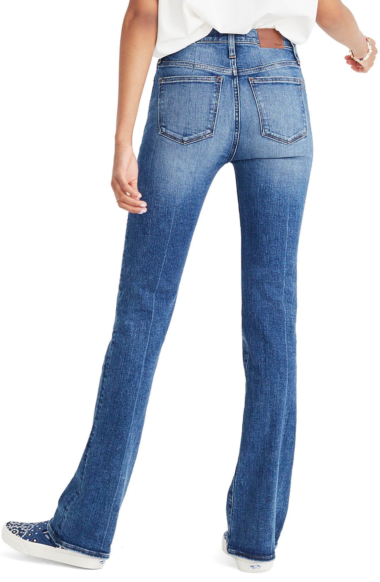 Skinny Flare Leg Jeans,                             Alternate thumbnail 2, color,                             400