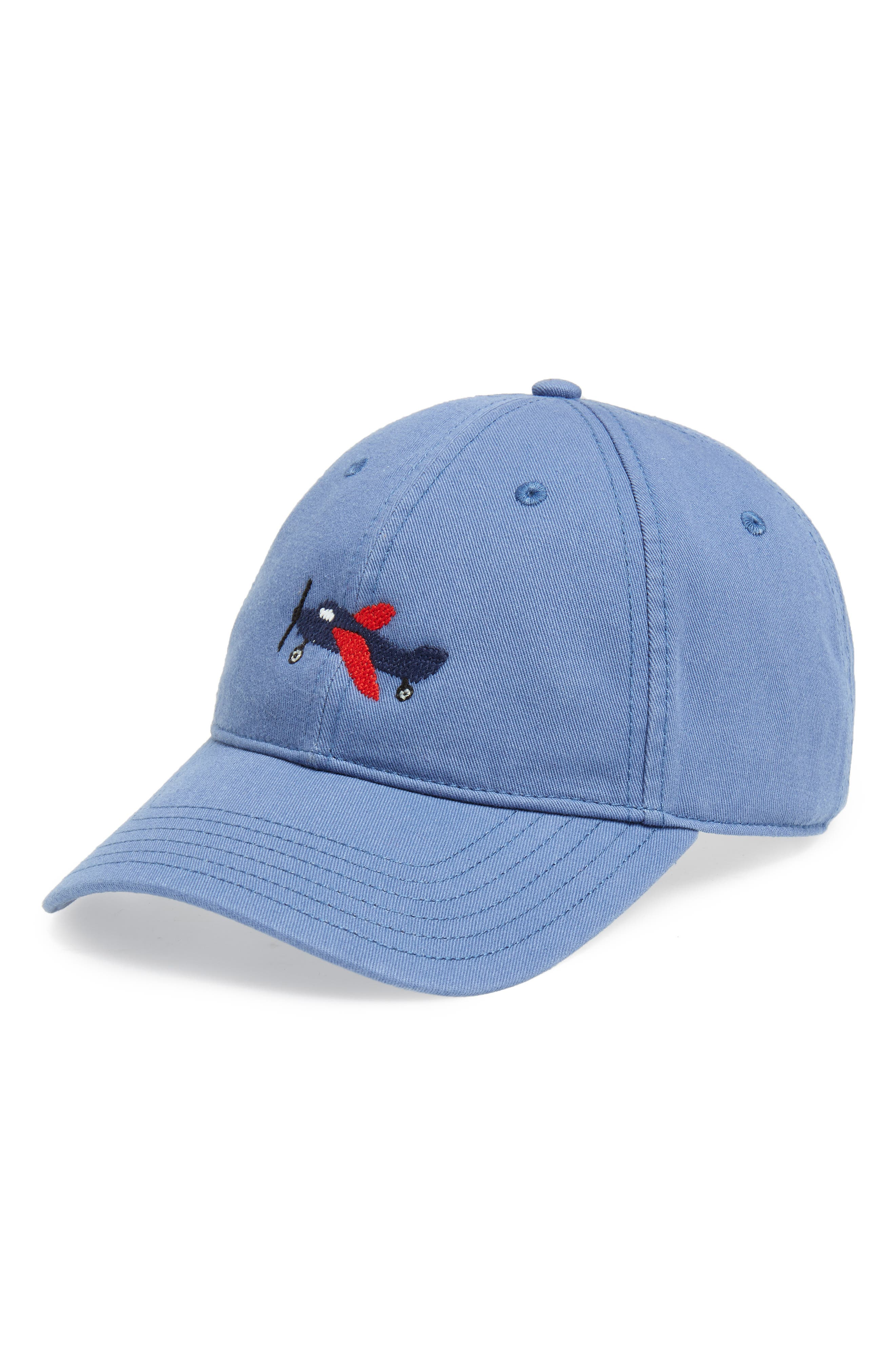 Airplane Baseball Cap,                         Main,                         color, BLUE
