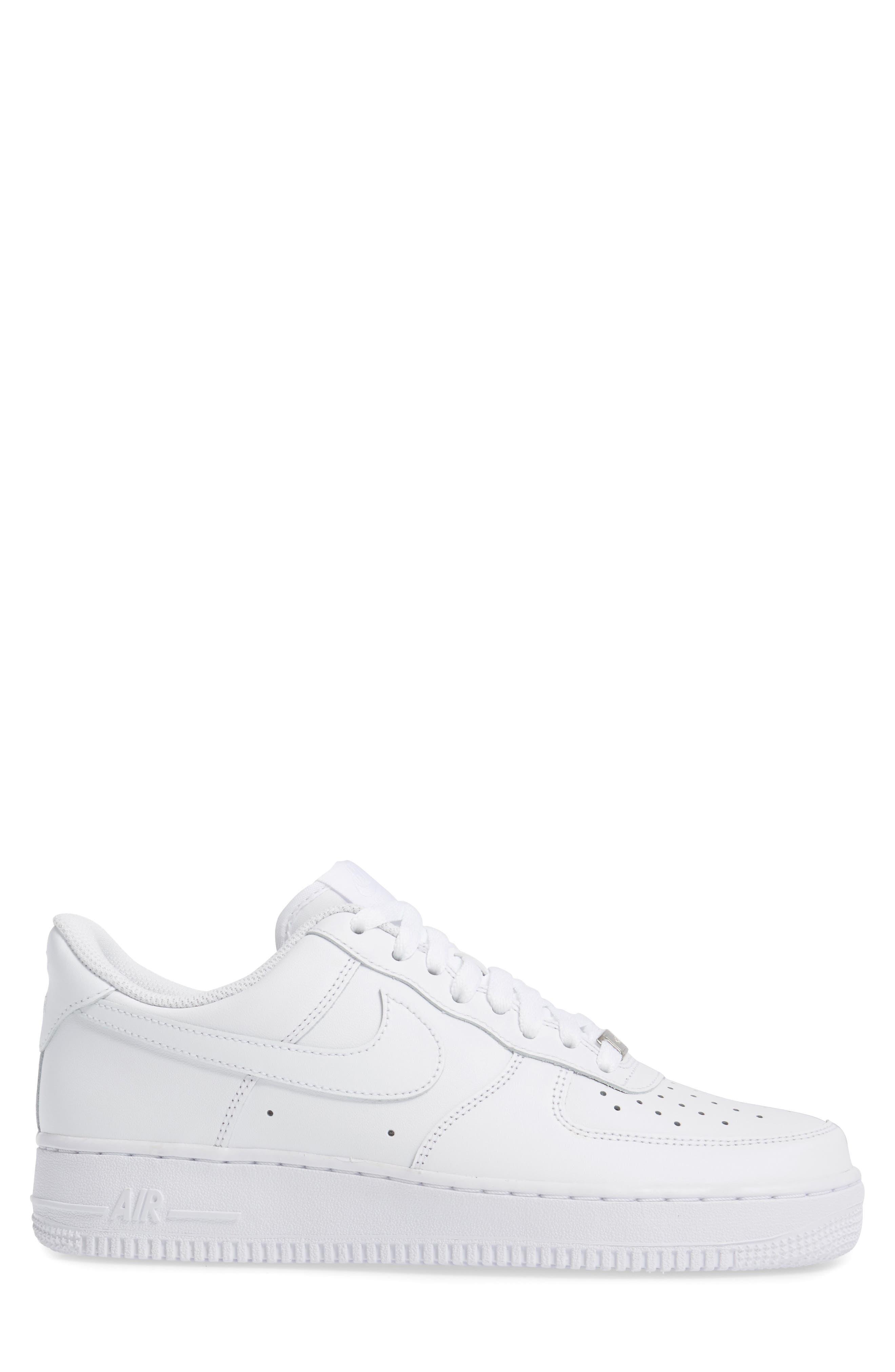 Air Force 1 '07 Sneaker,                             Alternate thumbnail 3, color,                             WHITE/ WHITE