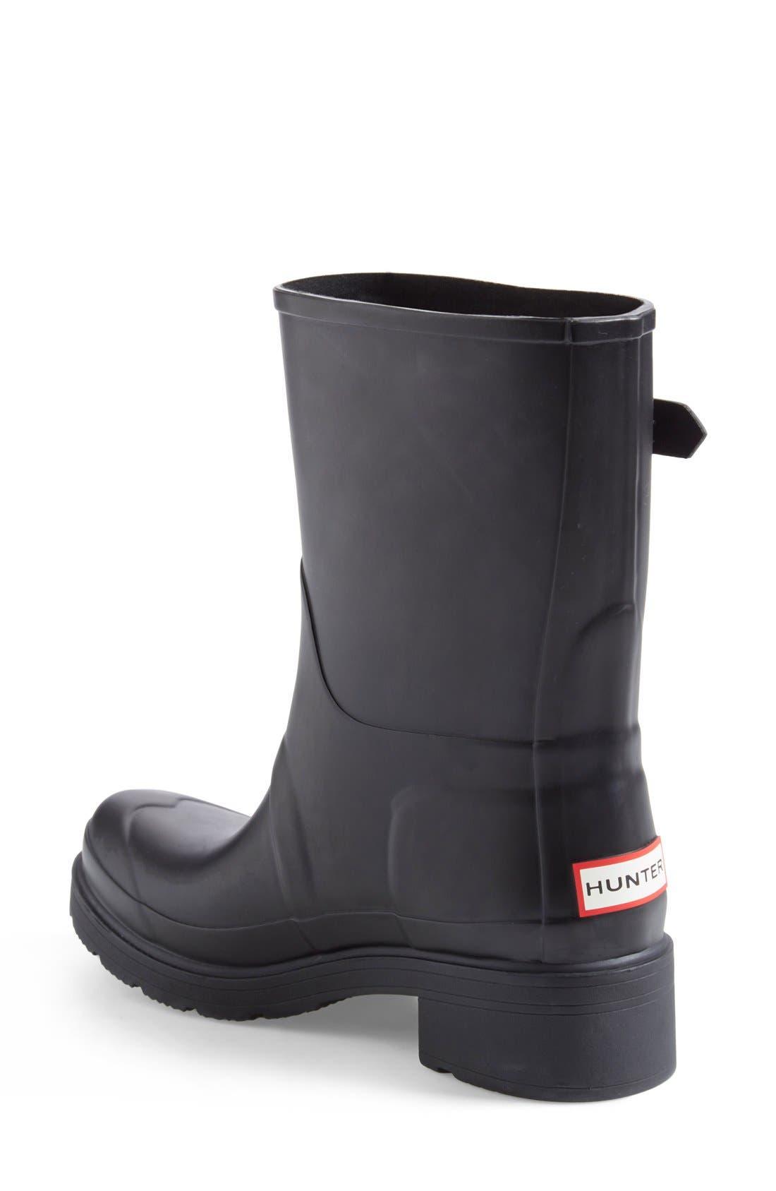 'Original' Waterproof Ankle Rain Boot,                             Alternate thumbnail 3, color,                             001
