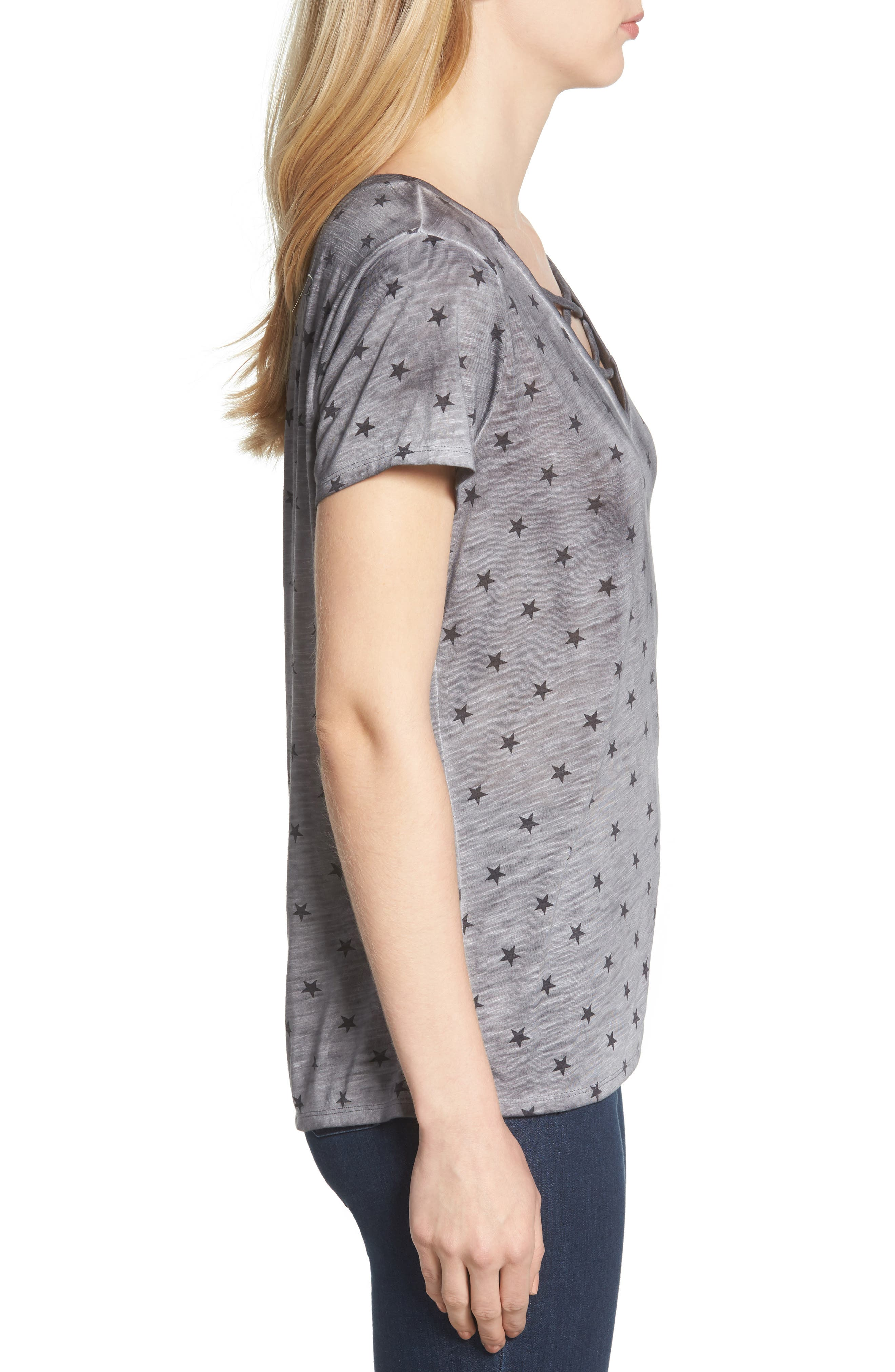 Star Tee,                             Alternate thumbnail 3, color,                             GREY