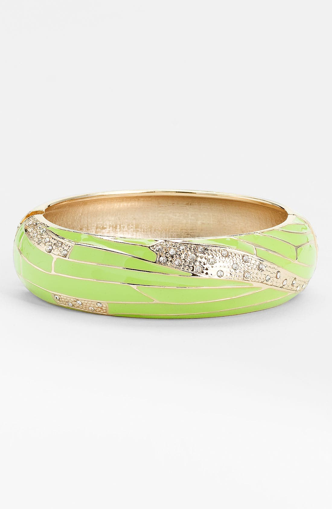Large Insect Wing Enamel Bangle,                             Main thumbnail 7, color,