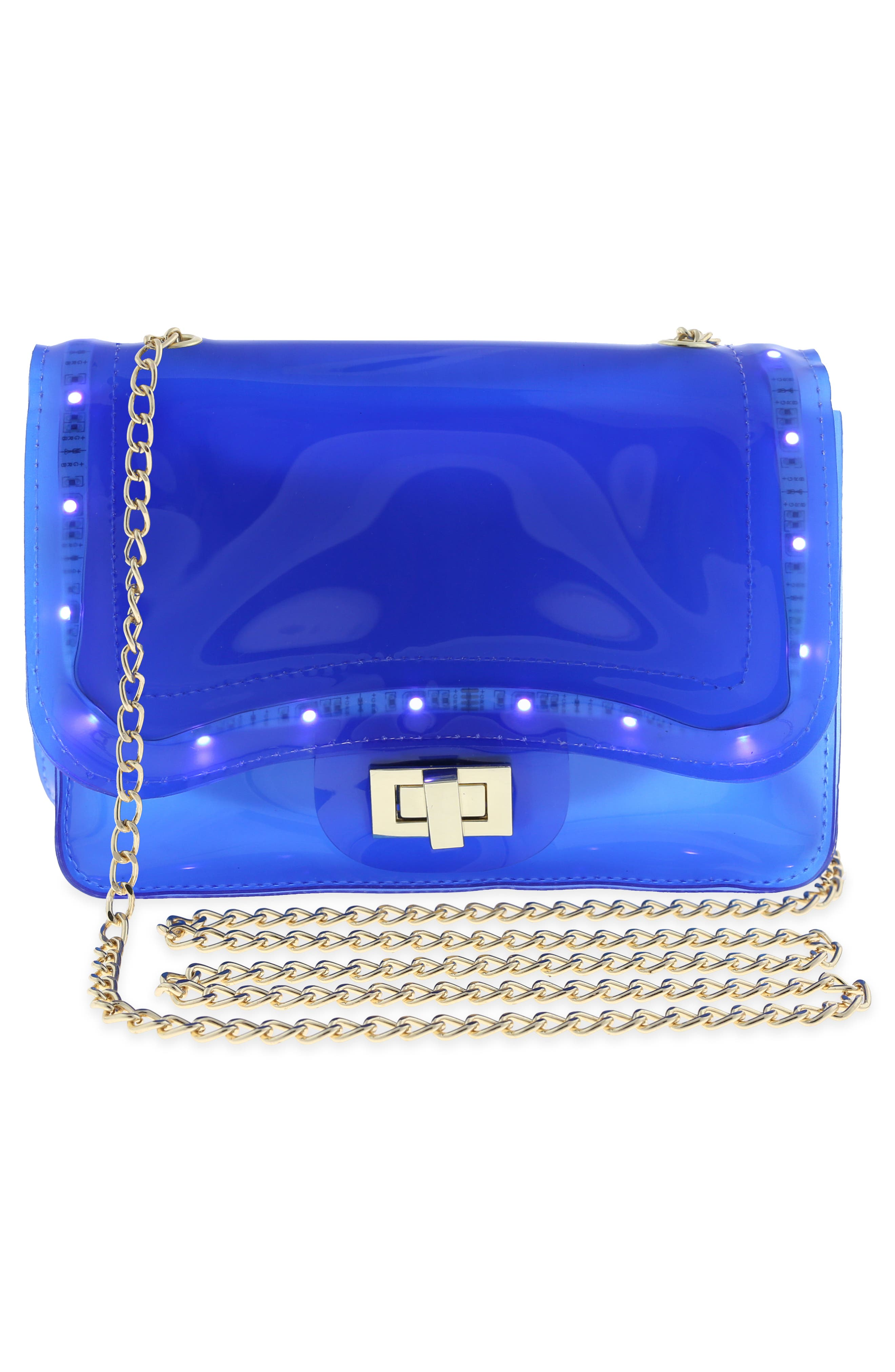 LED Light-Up Jelly Crossbody Bag,                             Alternate thumbnail 6, color,                             435