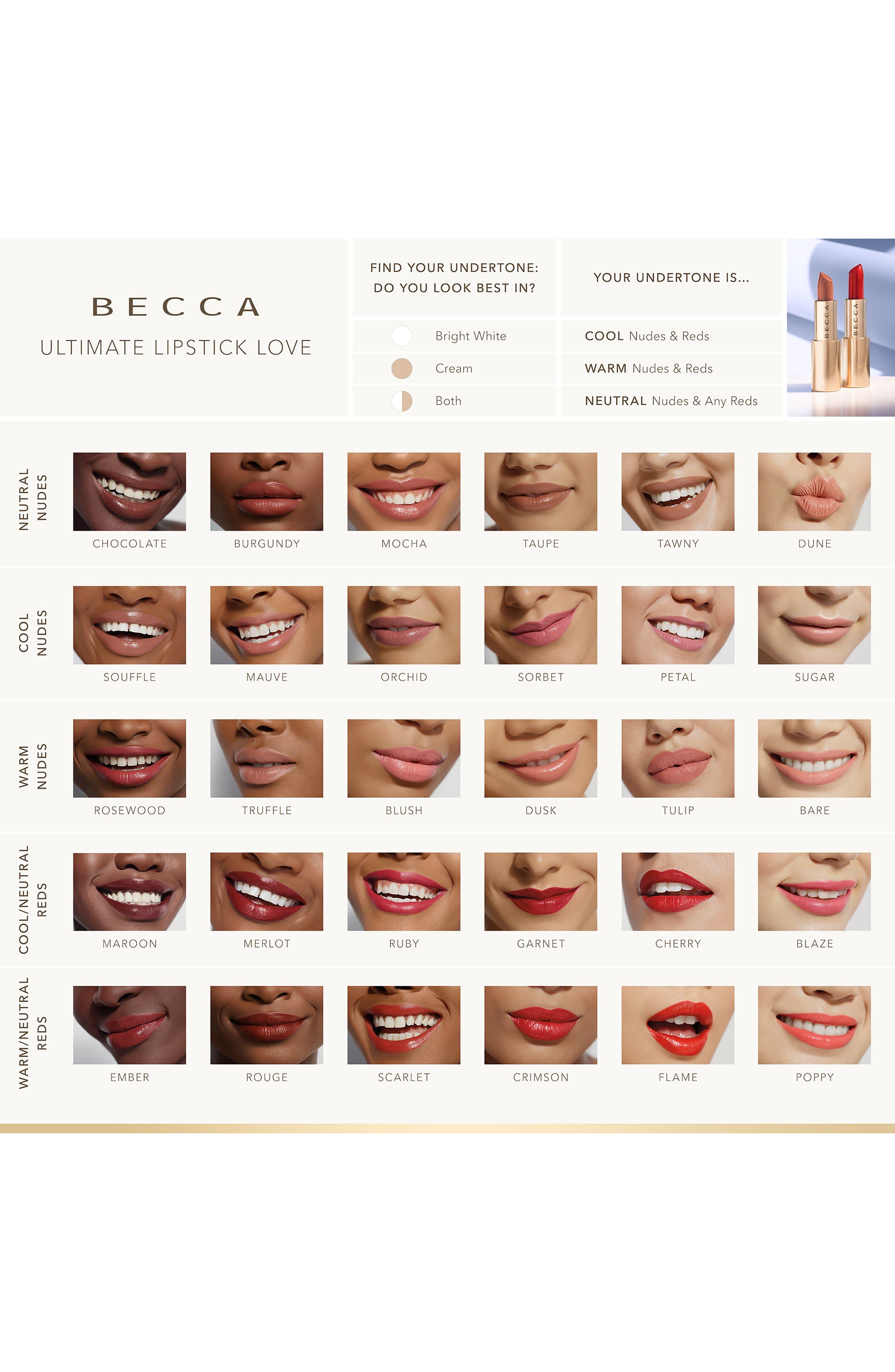 BECCA COSMETICS,                             BECCA Ultimate Lipstick Love,                             Alternate thumbnail 4, color,                             MOCHA