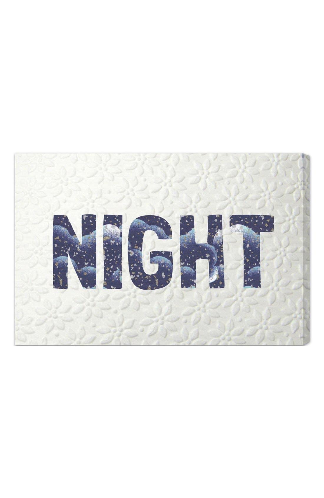 'Night Blue' Wall Art,                             Main thumbnail 1, color,                             400