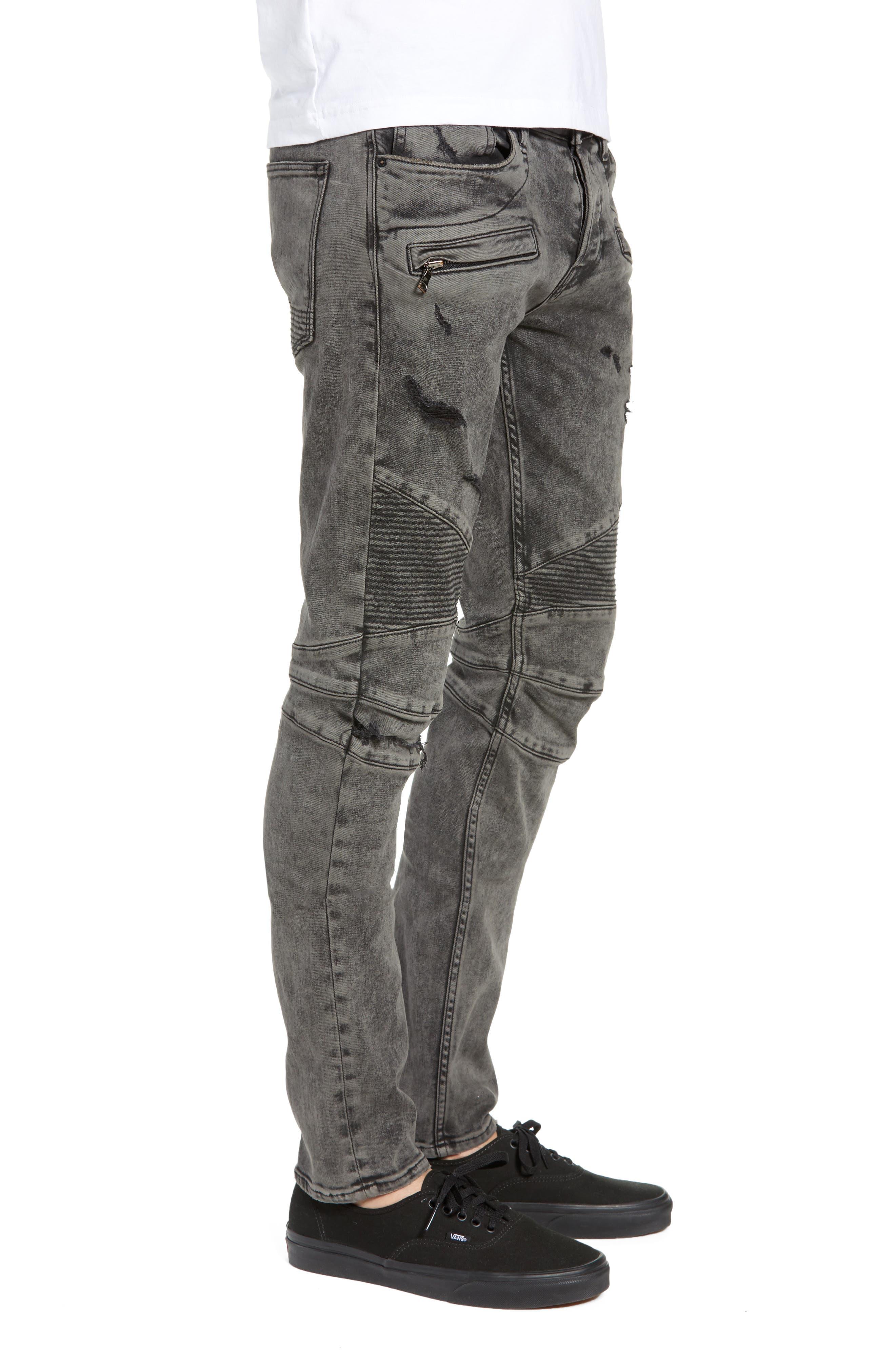Blinder Biker Skinny Fit Jeans,                             Alternate thumbnail 3, color,                             FADE GRAPHITE