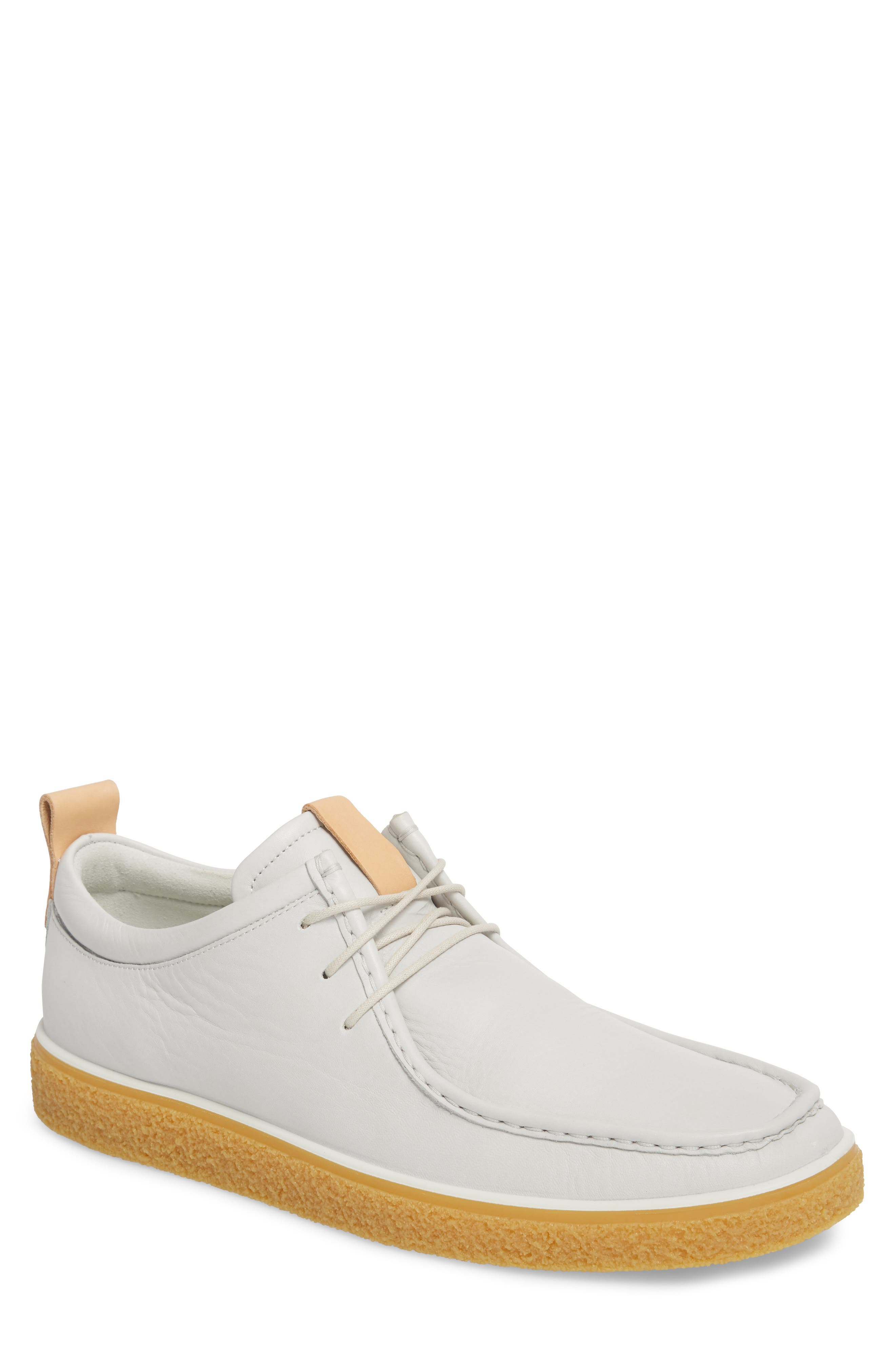 Crepetray Moc Toe Low Chukka Boot,                             Main thumbnail 1, color,                             OFF WHITE LEATHER