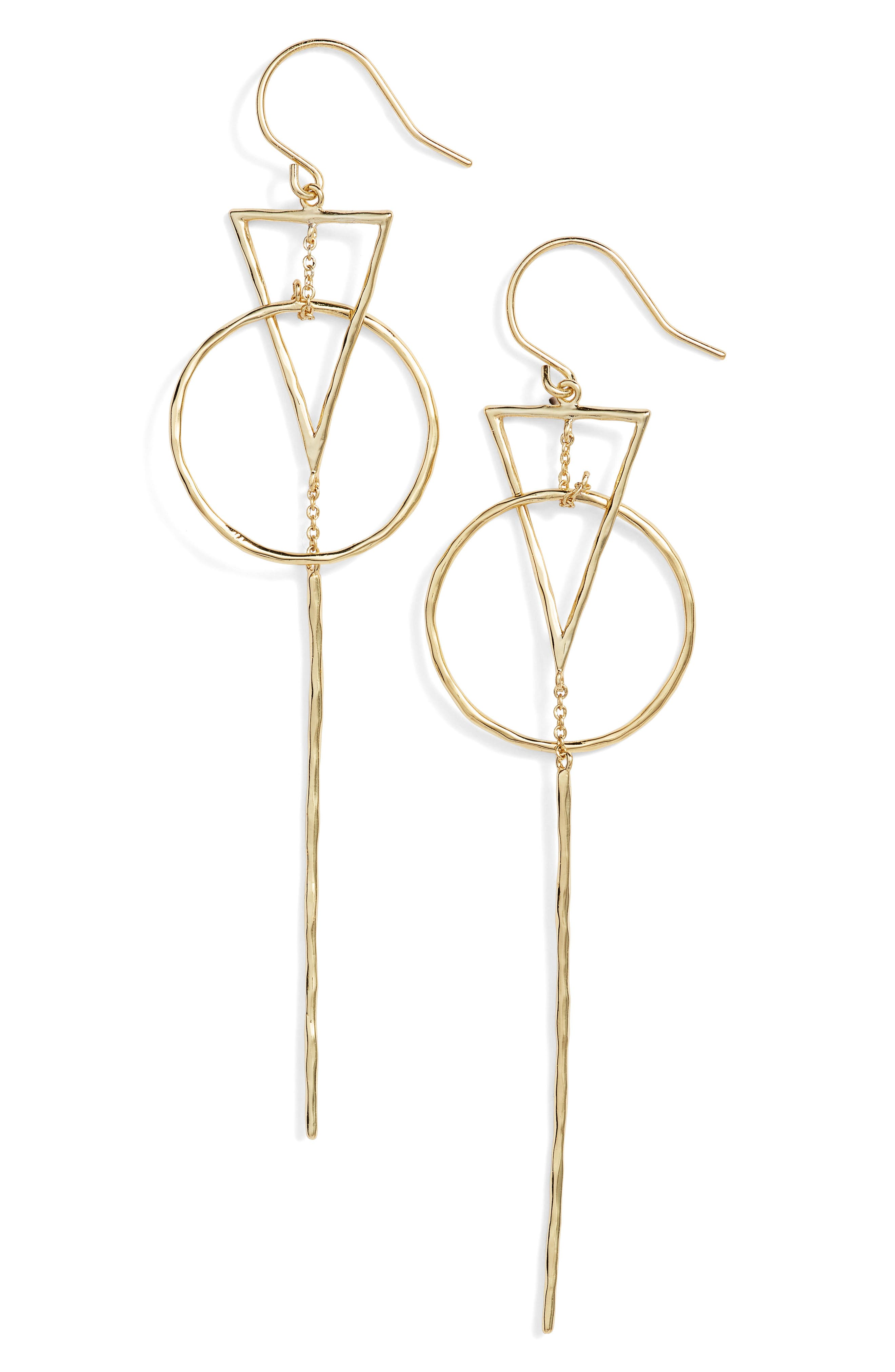 Triangle Drop Earrings,                         Main,                         color, GOLD