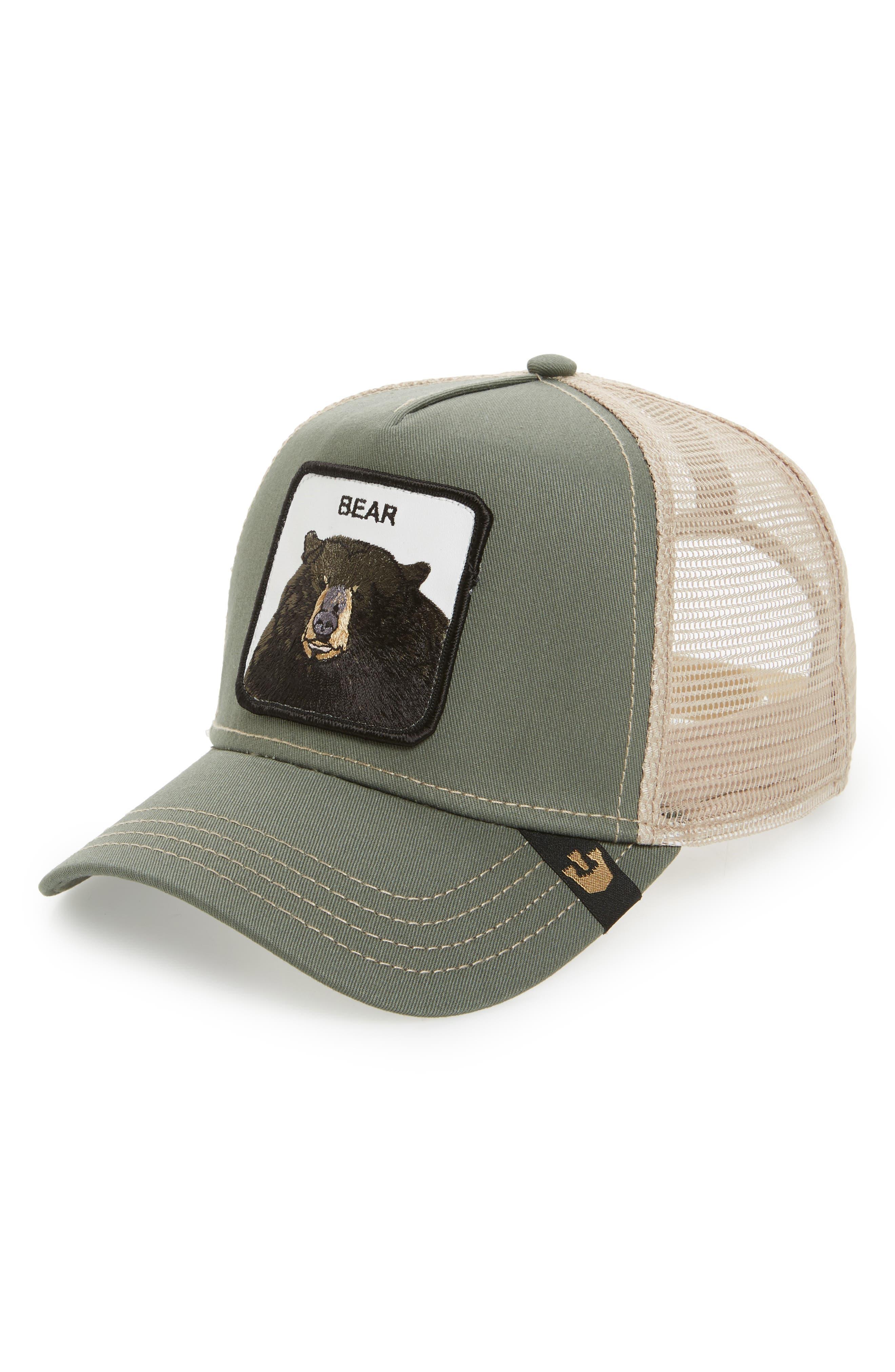 Drew Bear Trucker Hat,                         Main,                         color, 314