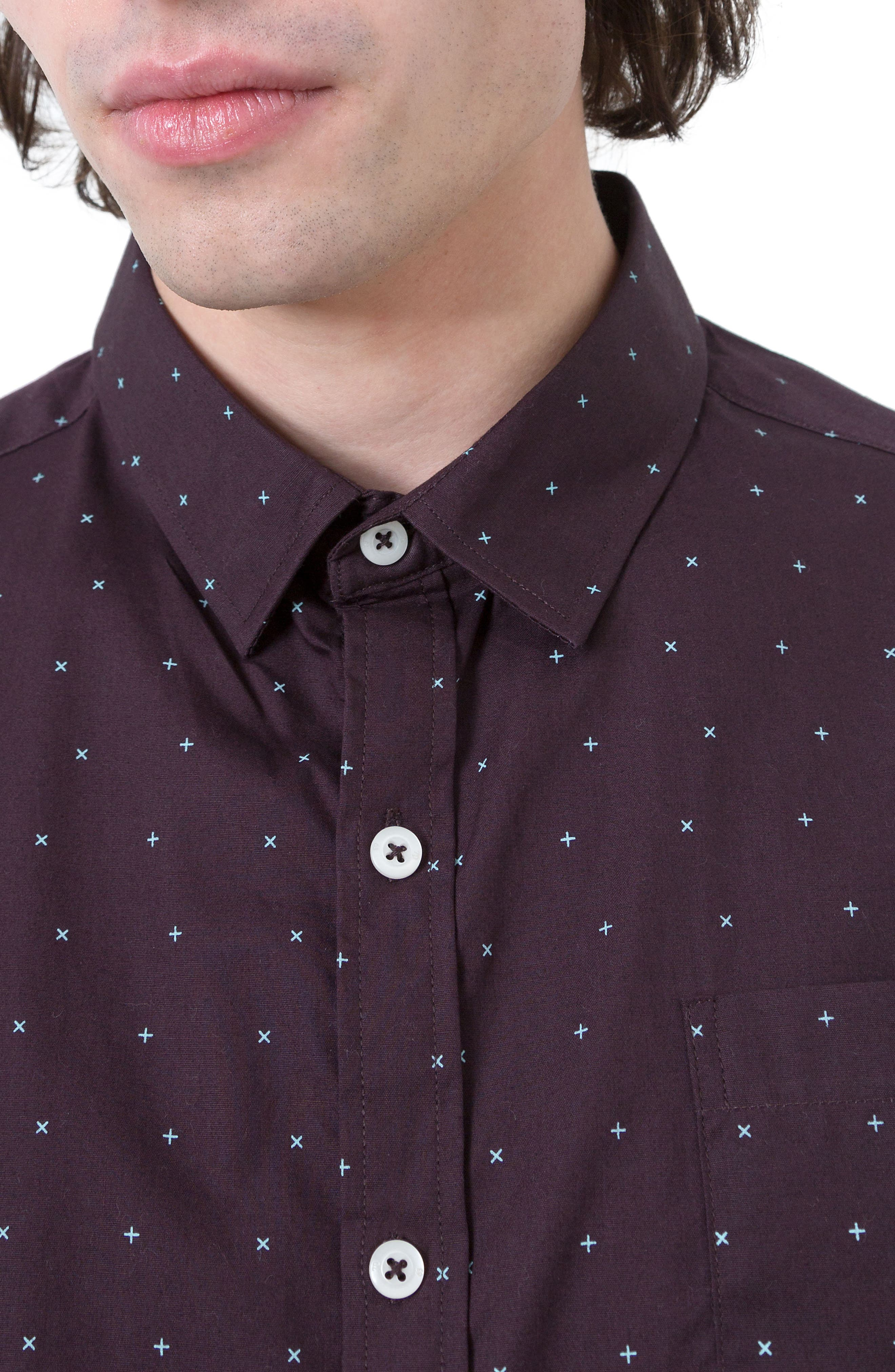 Hit Parade Woven Shirt,                             Alternate thumbnail 4, color,                             930