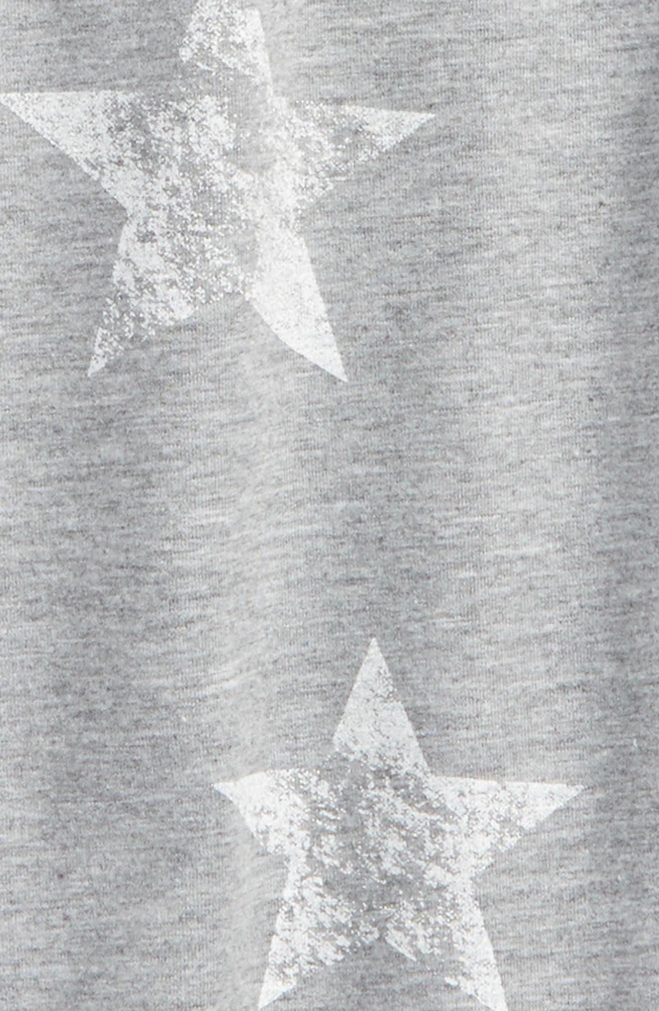 Star Print Ruffle Side Sweatshirt,                             Alternate thumbnail 2, color,