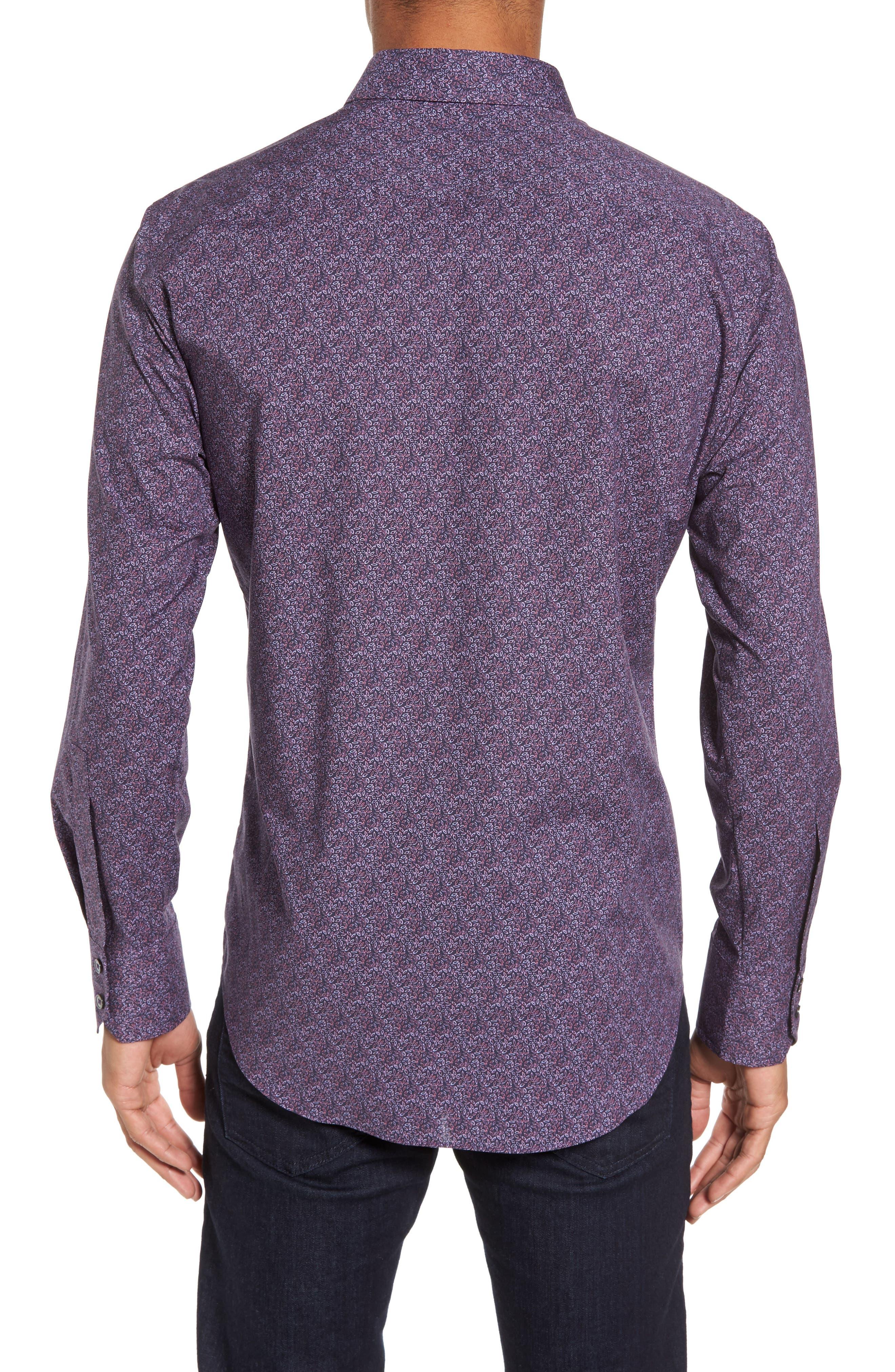Cristobal Slim Fit Print Sport Shirt,                             Alternate thumbnail 2, color,                             500