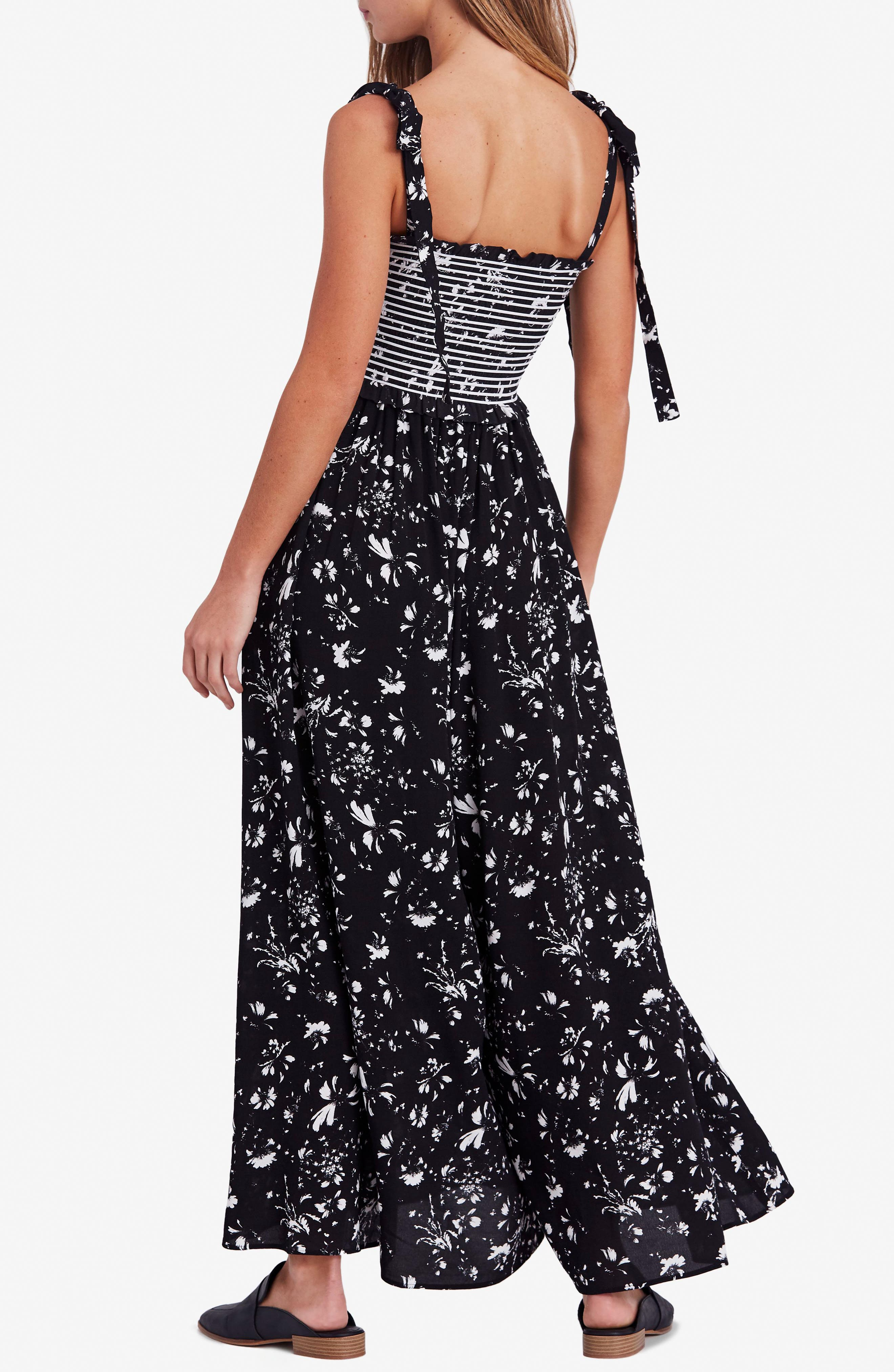 FREE PEOPLE,                             Color My World Floral Jumpsuit,                             Alternate thumbnail 2, color,                             001