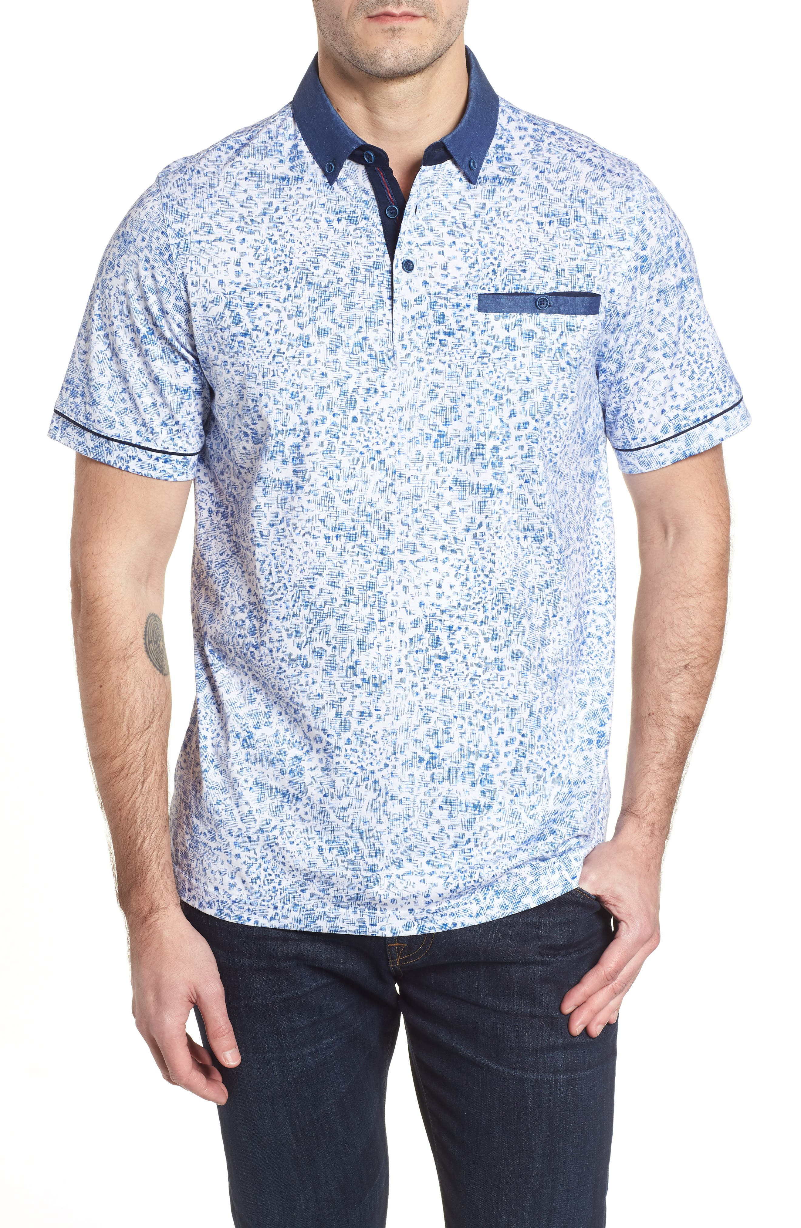 BUGATCHI Regular Fit Knit Polo, Main, color, 411