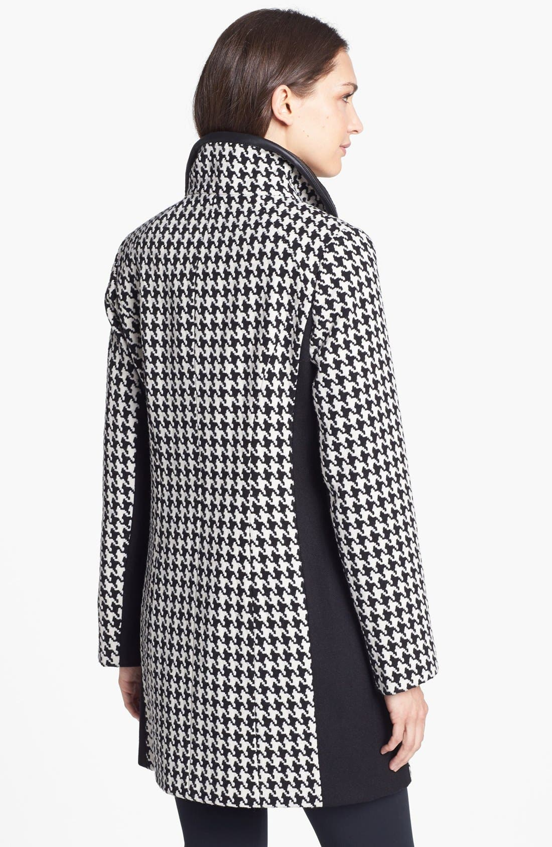Colorblock Houndstooth Coat,                             Alternate thumbnail 5, color,                             001