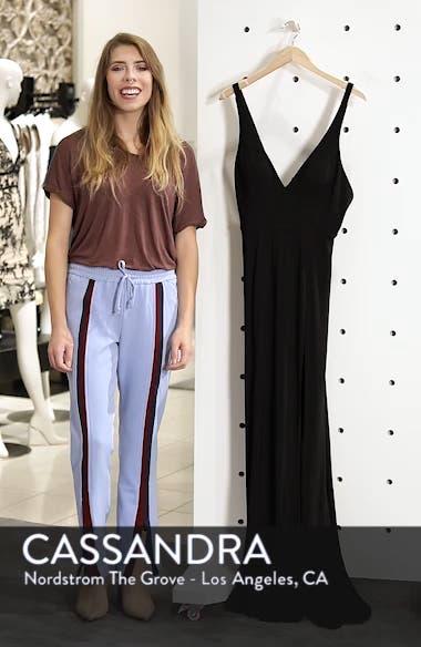 Mac Duggal Plunge Neck Slit Jersey Gown, sales video thumbnail