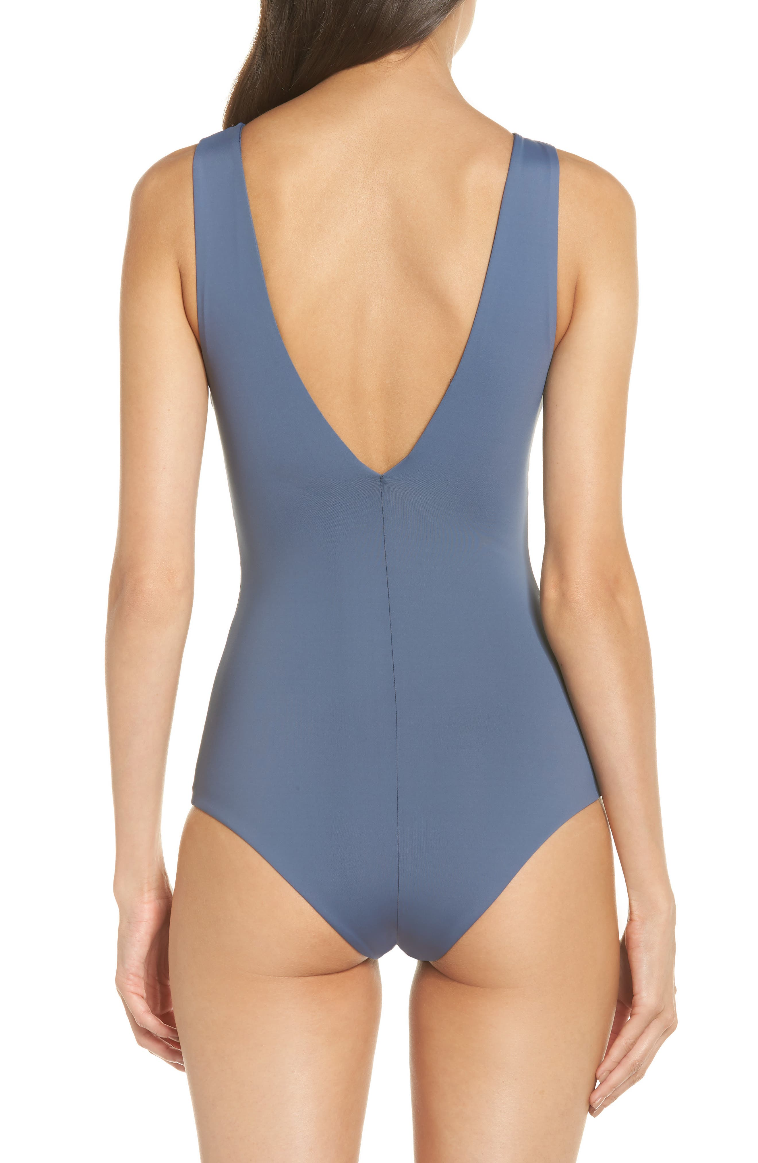 Roan One-Piece Swimsuit,                             Alternate thumbnail 2, color,                             MUTED INDIGO