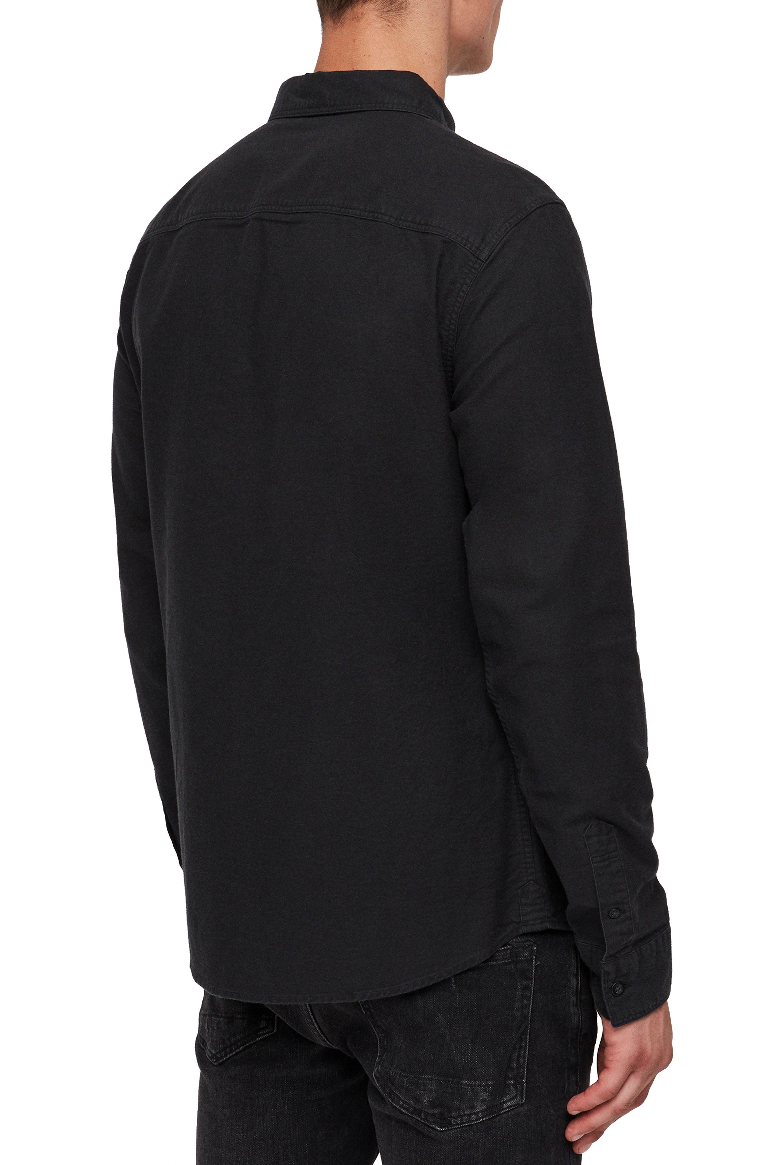 Huntington Regular Fit Sport Shirt,                             Alternate thumbnail 3, color,                             BLACK