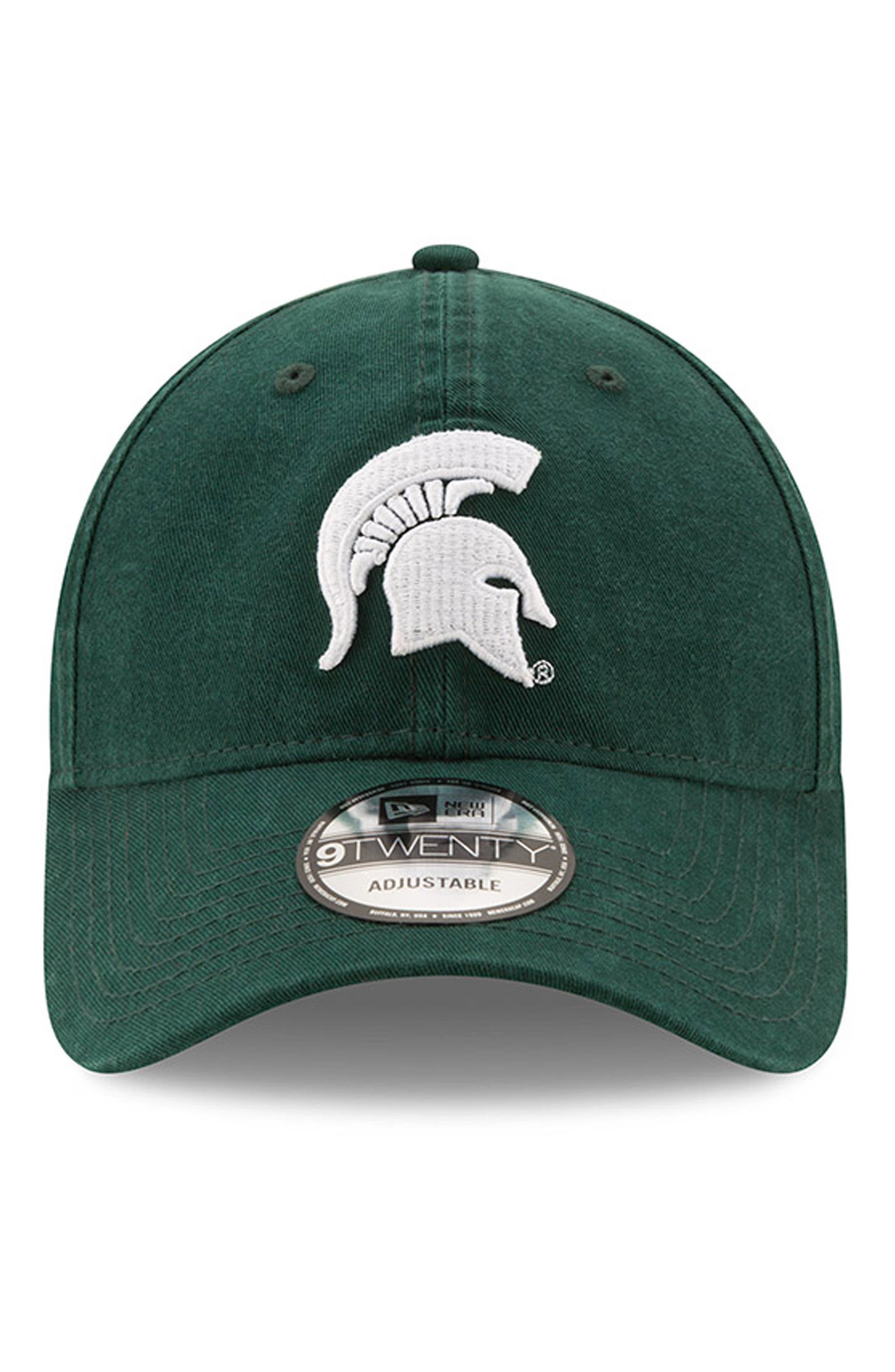 New Era Collegiate Core Classic - Michigan State Spartans Baseball Cap,                             Alternate thumbnail 2, color,                             301