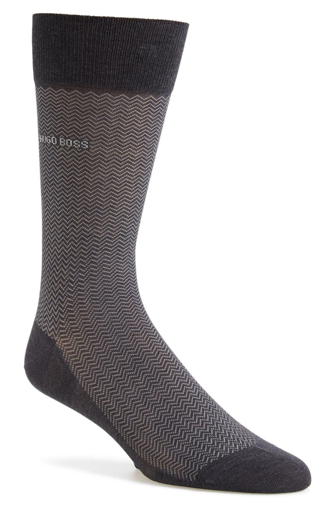 'David' Herringbone Socks,                             Main thumbnail 1, color,                             020